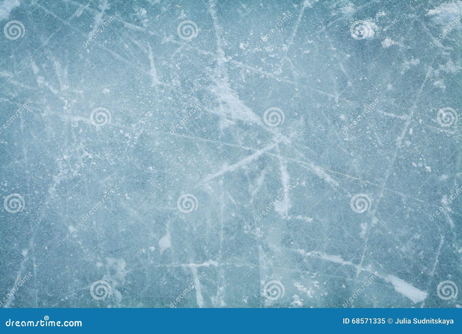 Предпосылка или текстура катка хоккея на льде сверху, макрос,