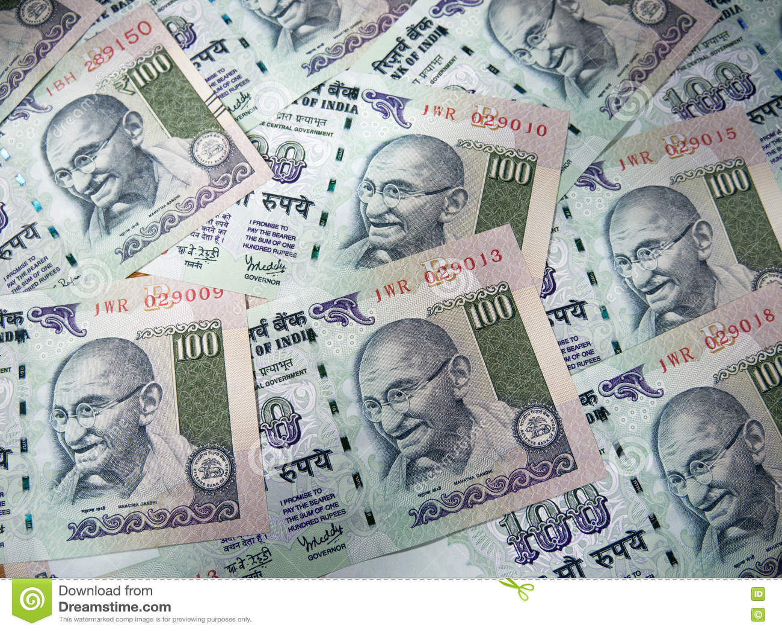 Предпосылка и текстура индийской валюты банкнота 100 рупий