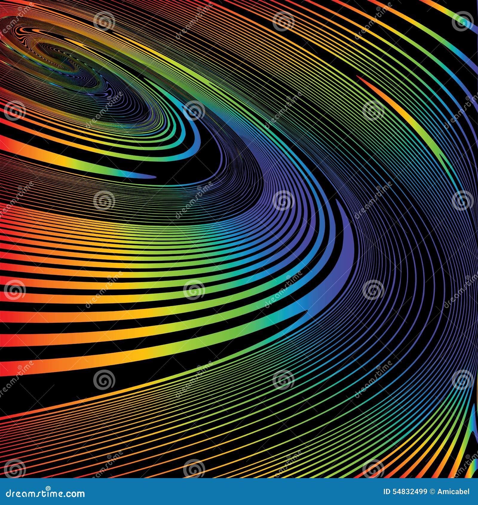Предпосылка иллюзии движения винтовой линии дизайна красочная