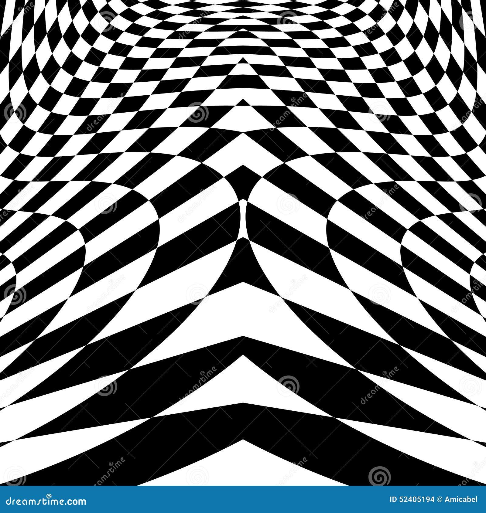 Предпосылка иллюзии движения дизайна checkered
