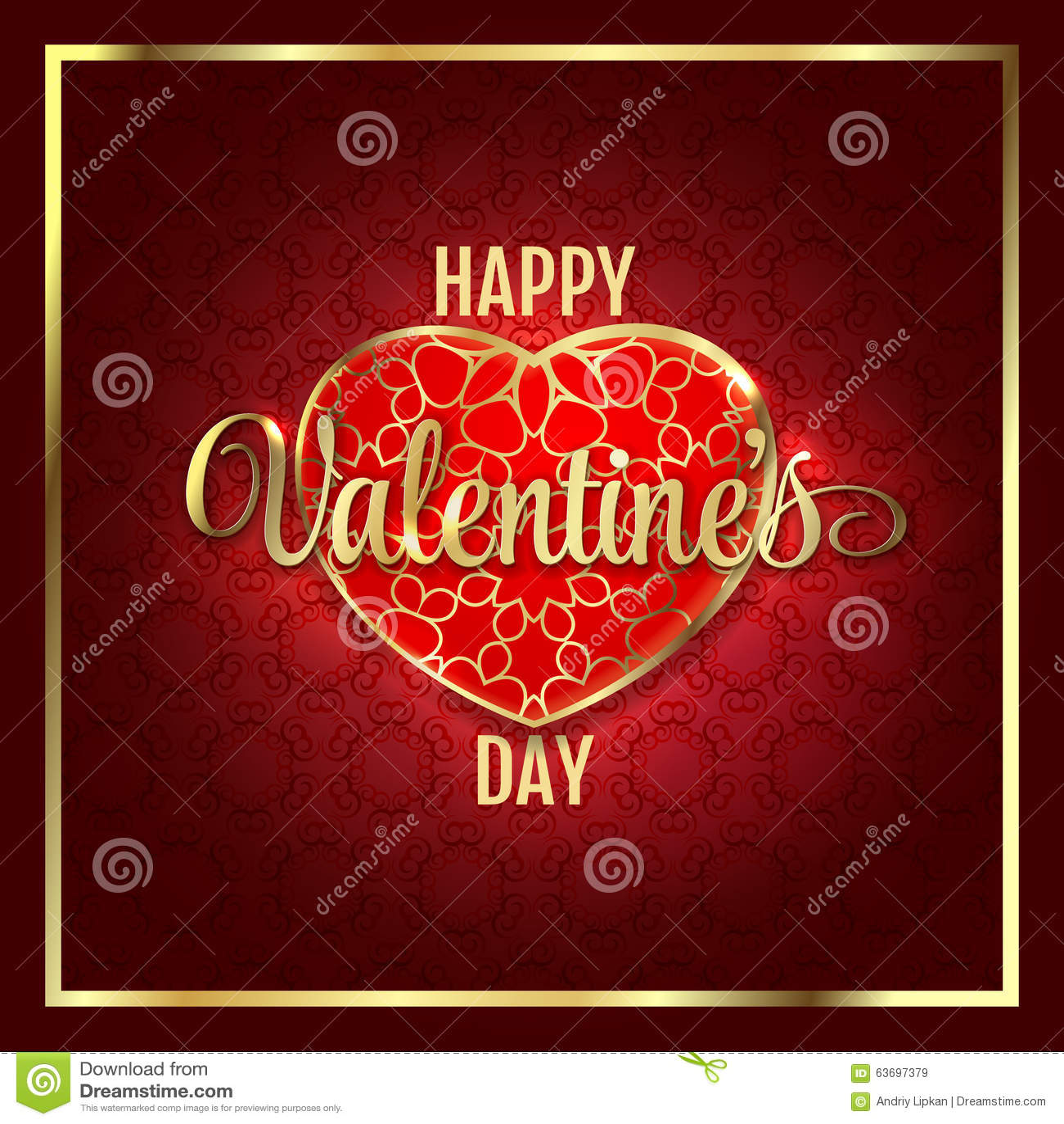 Предпосылка конспекта дня валентинок с красным сердцем золота также вектор иллюстрации притяжки corel