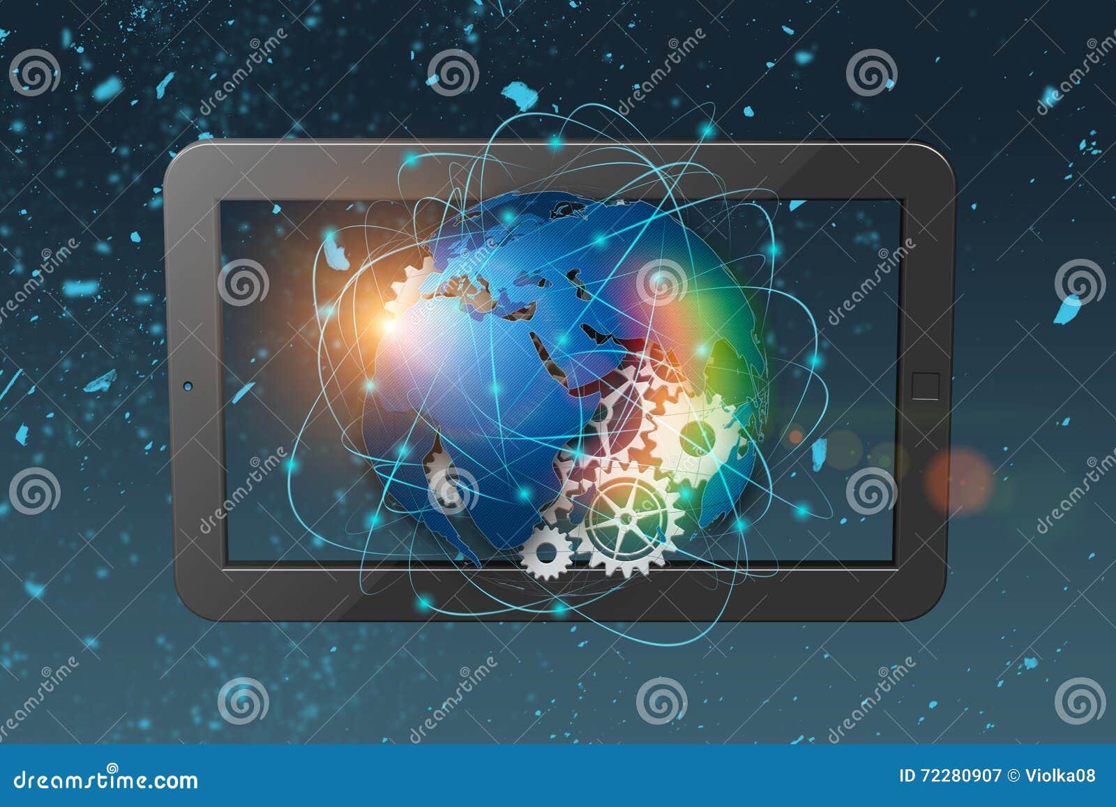 Download предпосылка конспекта технологии перевода 3D, концепция глобальной связи Стоковое Изображение - изображение насчитывающей соединение, сеть: 72280907