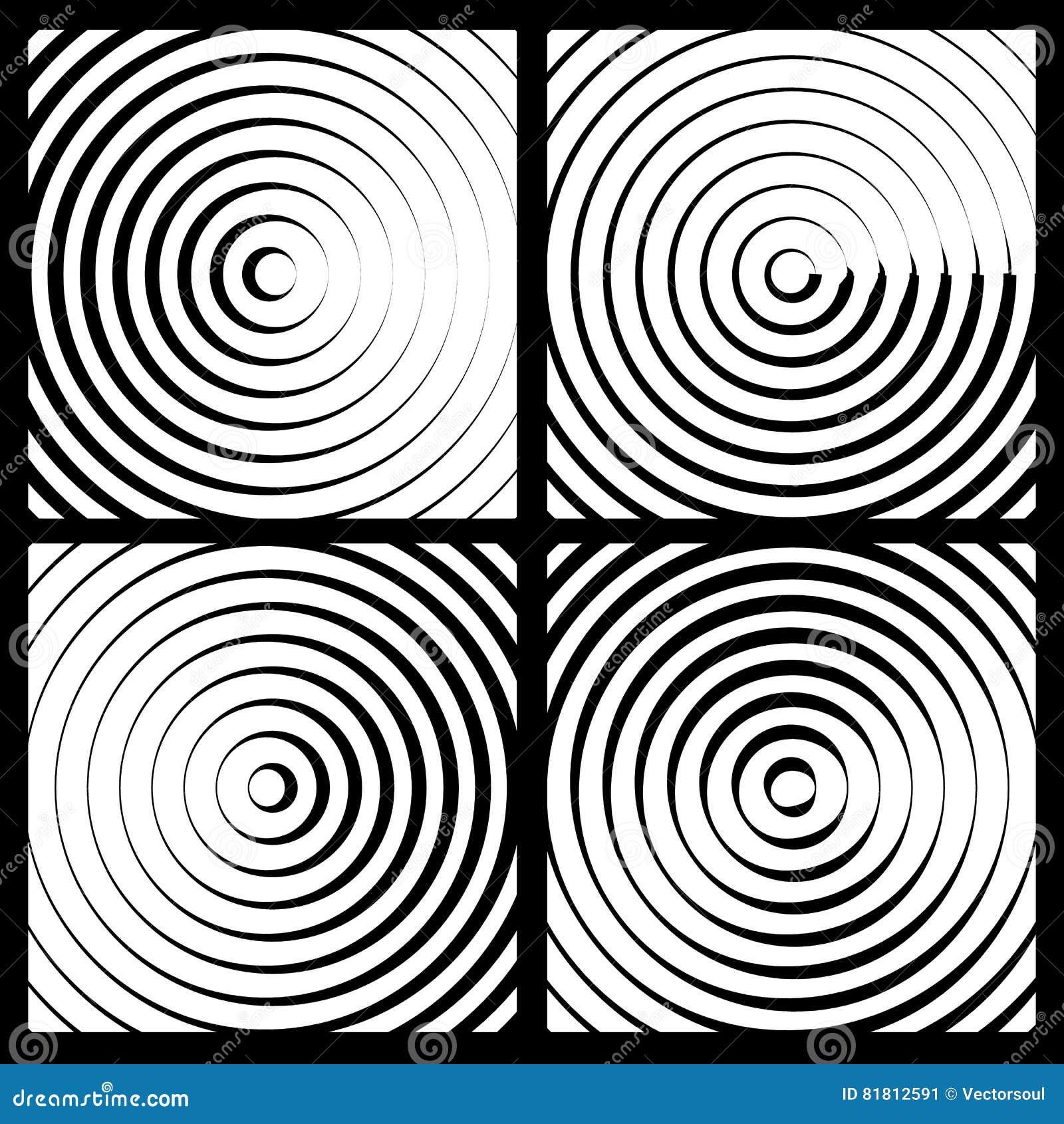 Предпосылка концентрических кругов monochrome абстрактная излучать cir