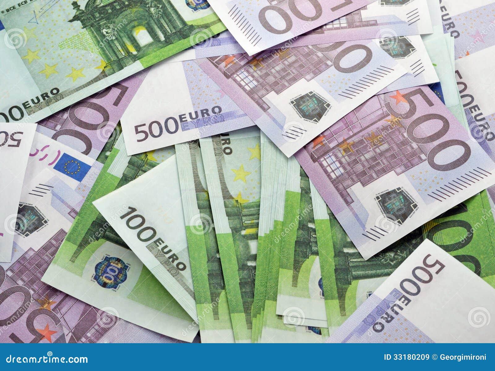 Предпосылка банкнот евро
