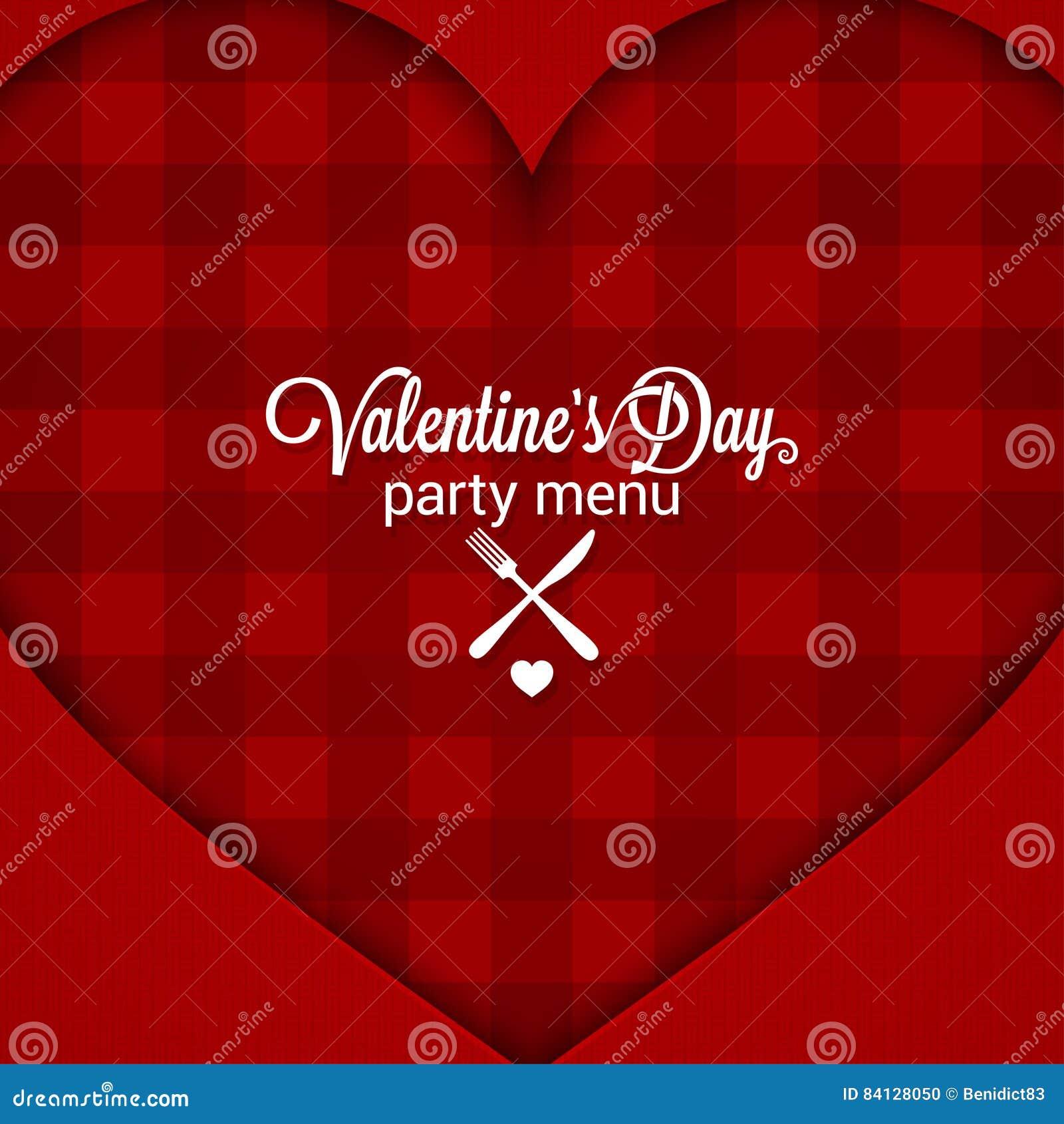 Предпосылка меню официальныйа обед дня валентинок