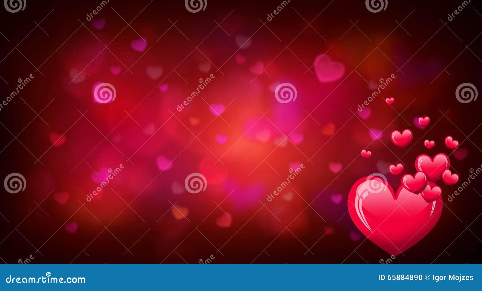 Предпосылка дня валентинок с красными формами сердца