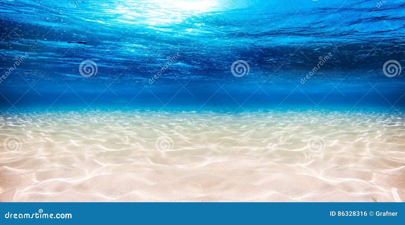Предпосылка подводного голубого океана песочная