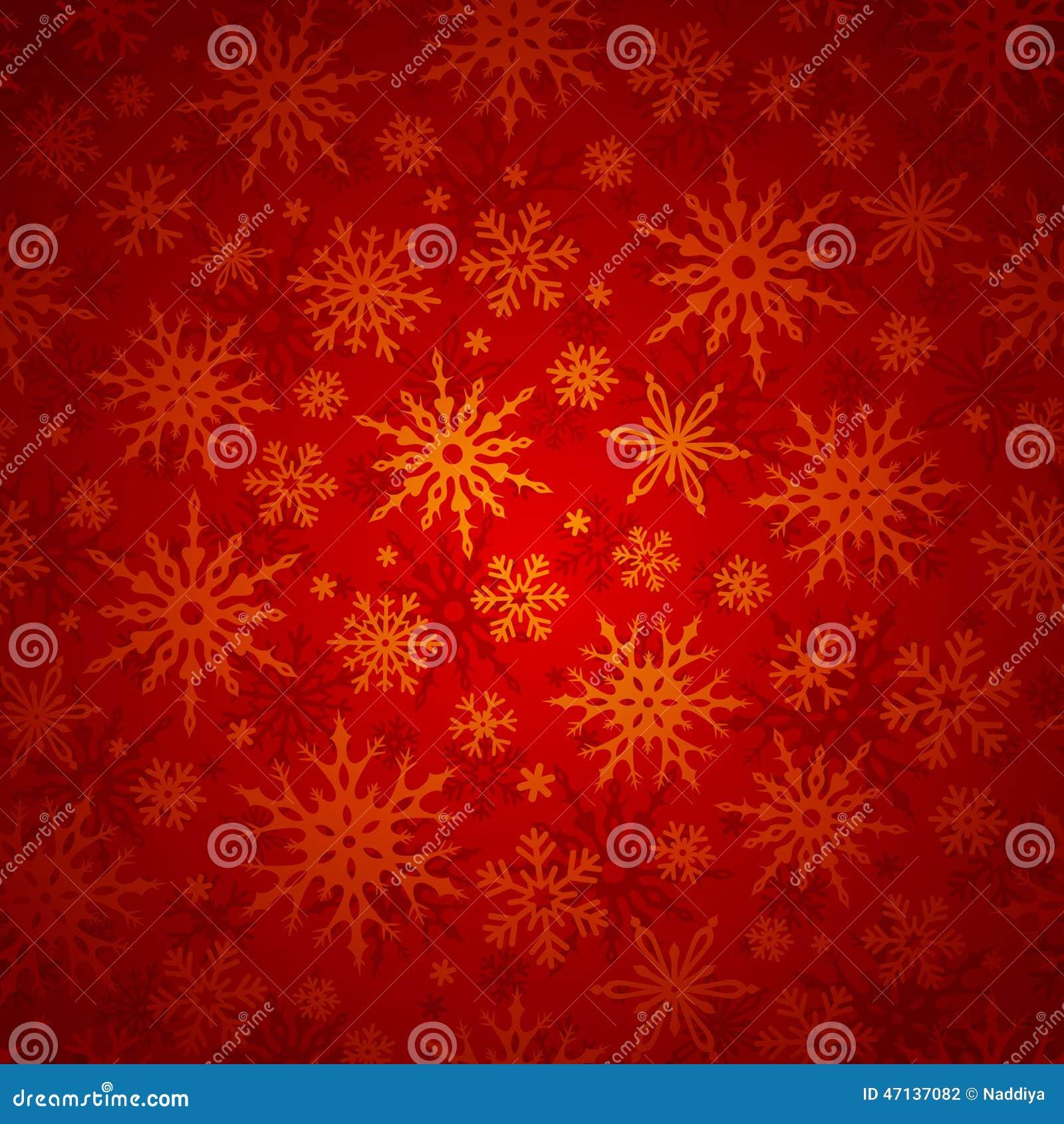 Предпосылка рождества безшовная с снежинками также вектор иллюстрации притяжки corel