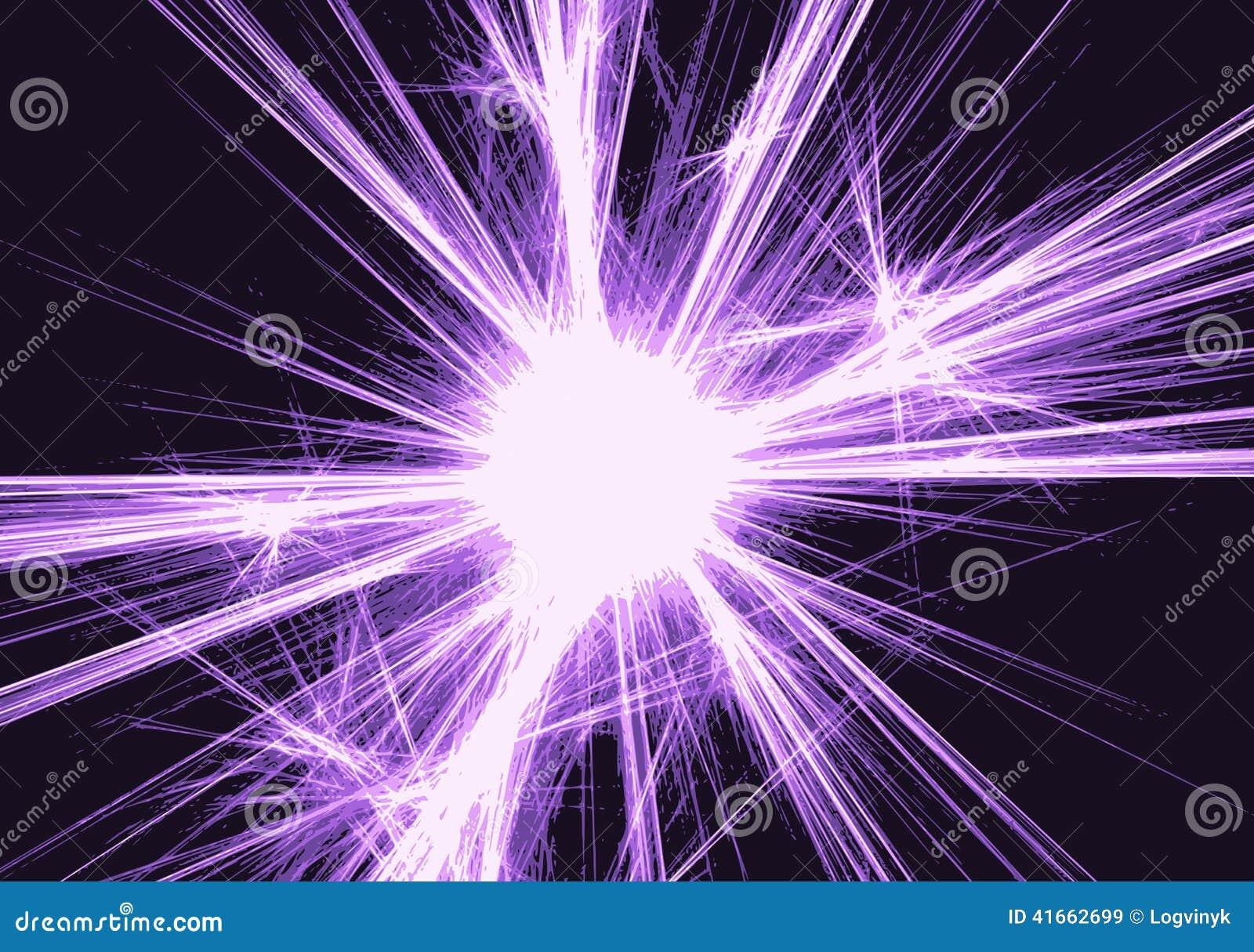 Предпосылка с запачканными волшебными неоновыми световыми лучами