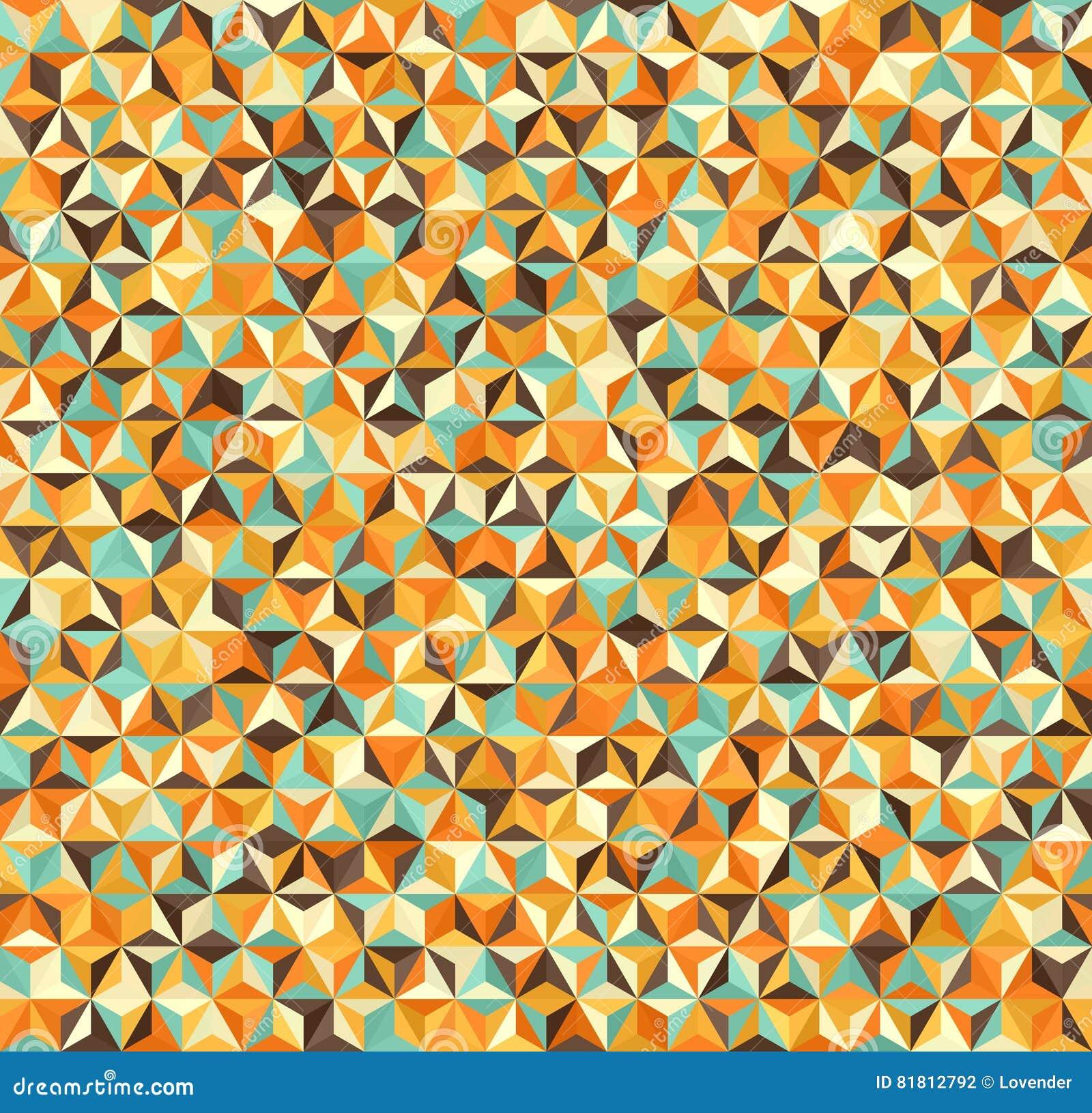 Предпосылка треугольника Картина вектора безшовная геометрическая