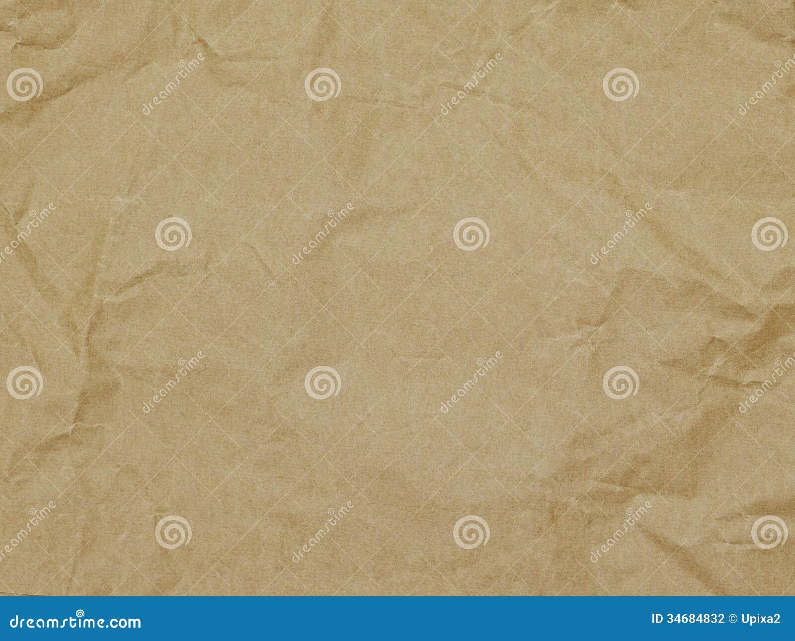 Предпосылка, упаковочная бумага, текстура, коричневый цвет, морщинка