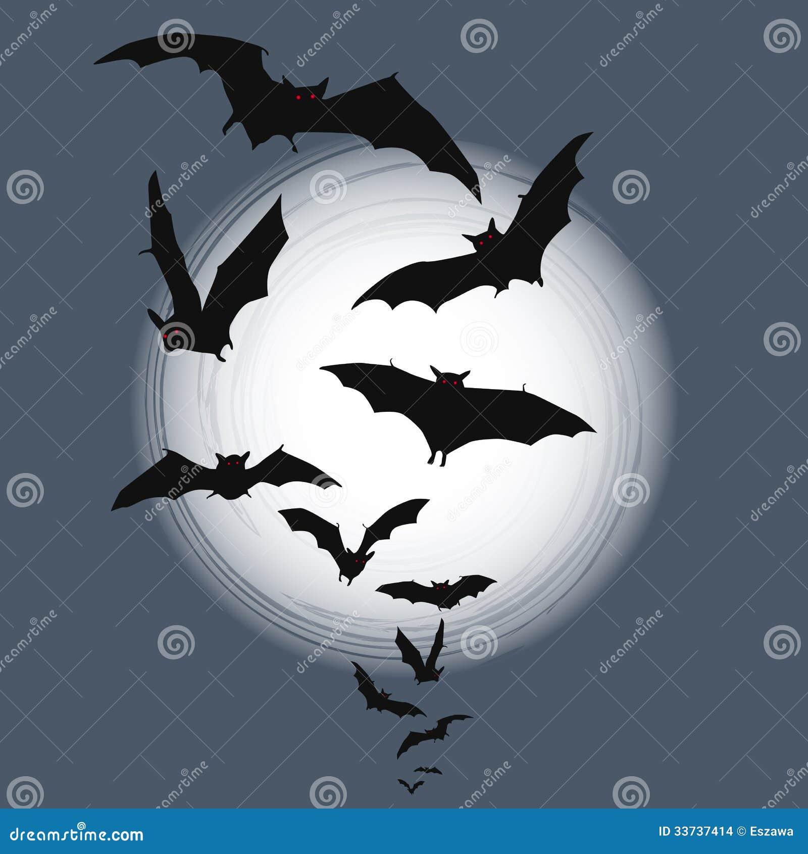 Предпосылка хеллоуина - летание бить полностью луну