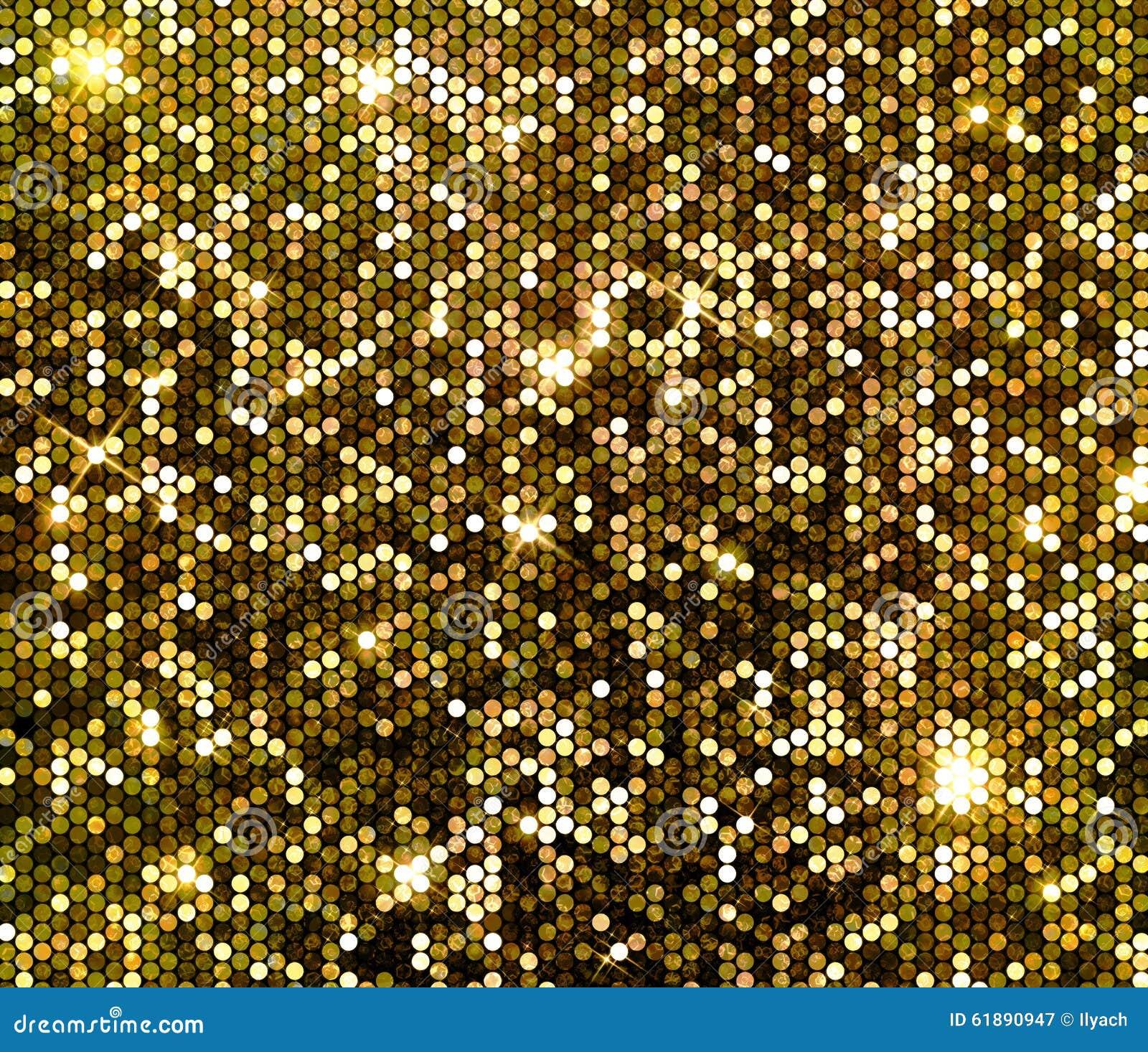 Предпосылка sequins яркого блеска искры золота