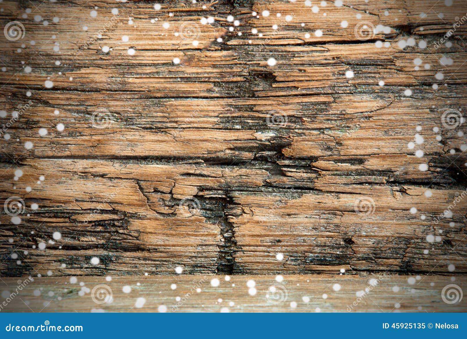 Предпосылка Snowy деревянная