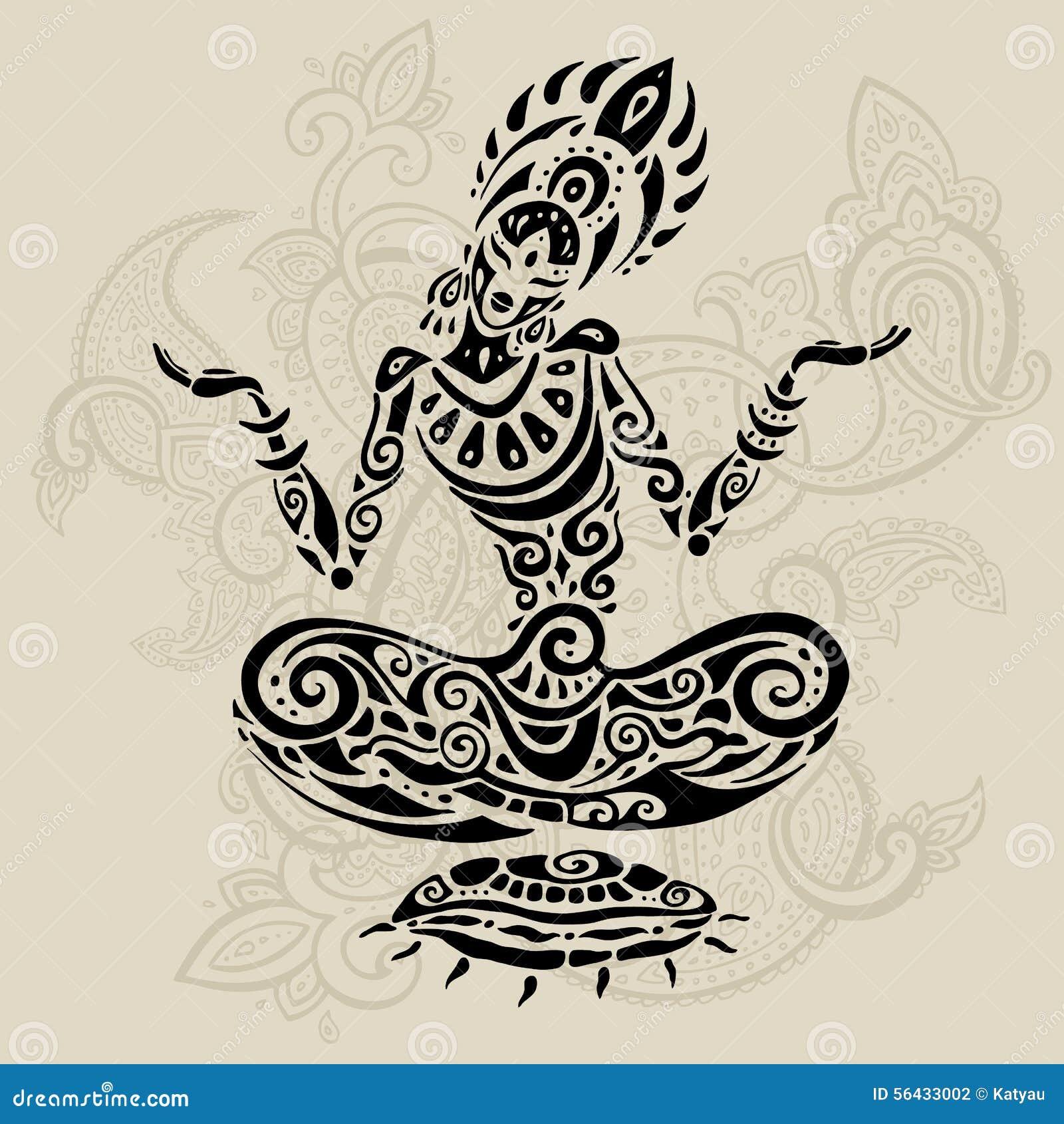 Эскиз воинЙога и татуировки 31