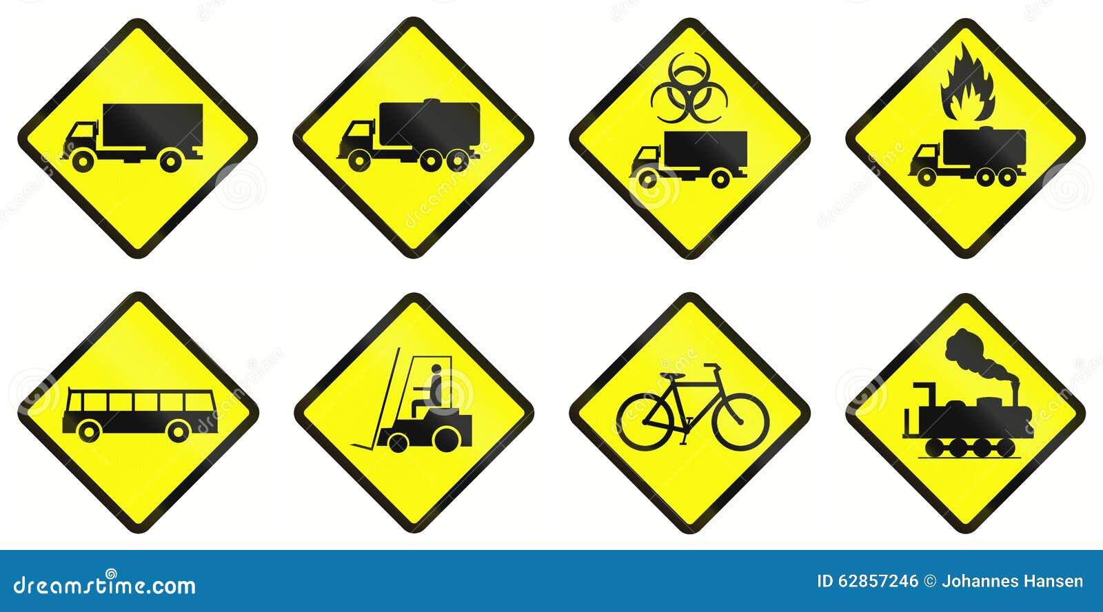 Предупреждающие дорожные знаки в Индонезии