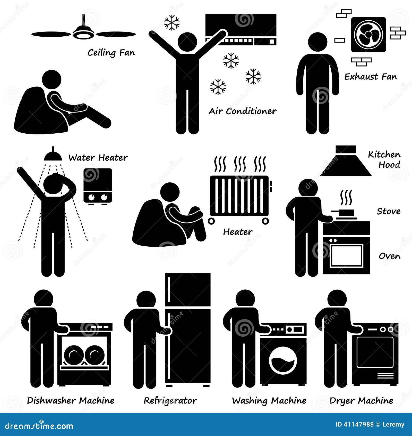 Приборы Cliparts домашнего дома основные электронные