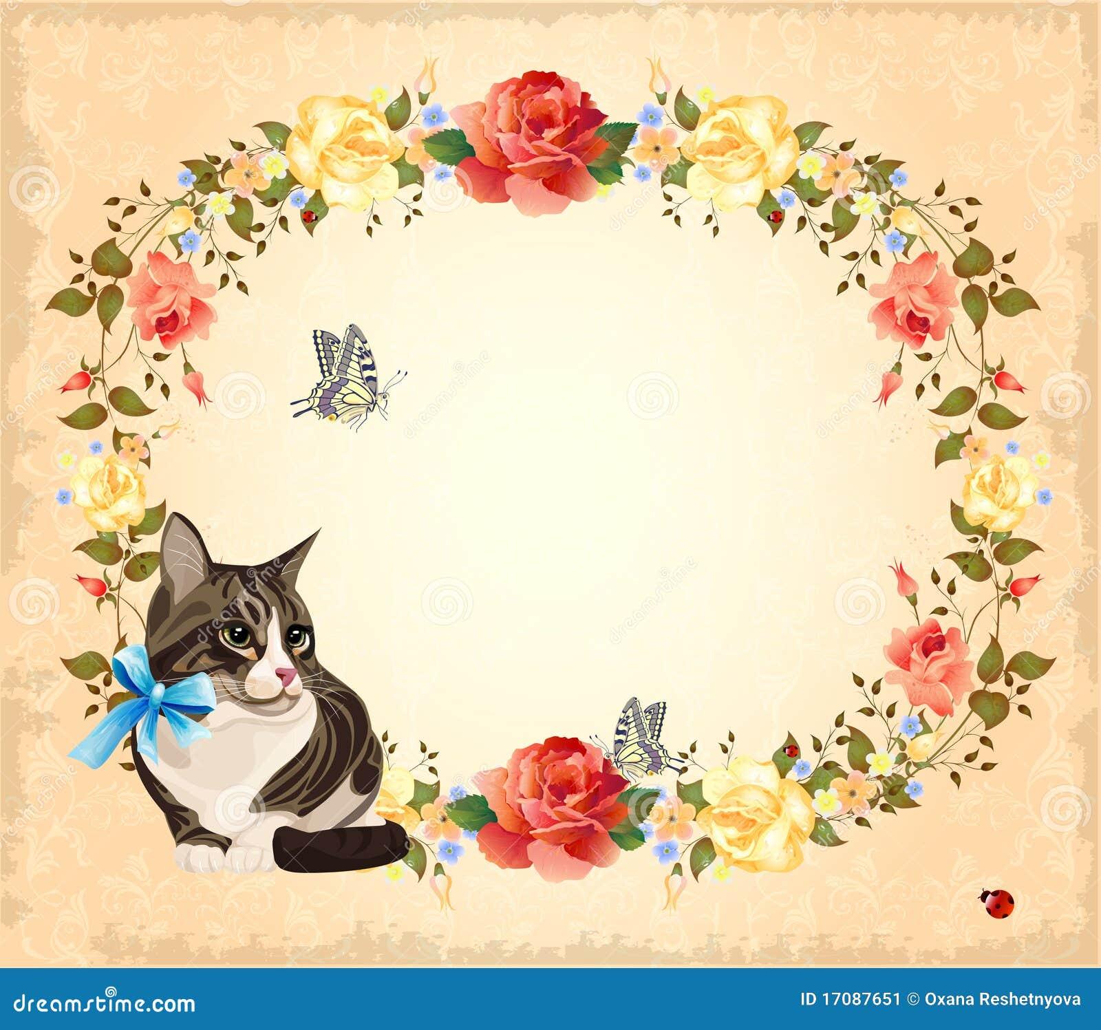 приветствие кота карточки