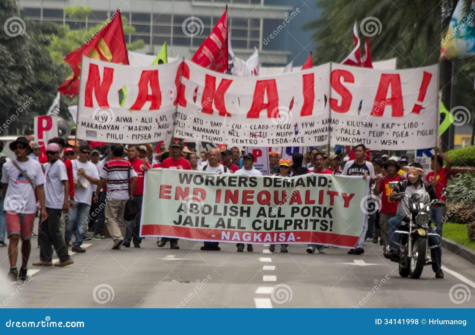 Прививок и коррупция протестуют в Маниле, Филиппинах