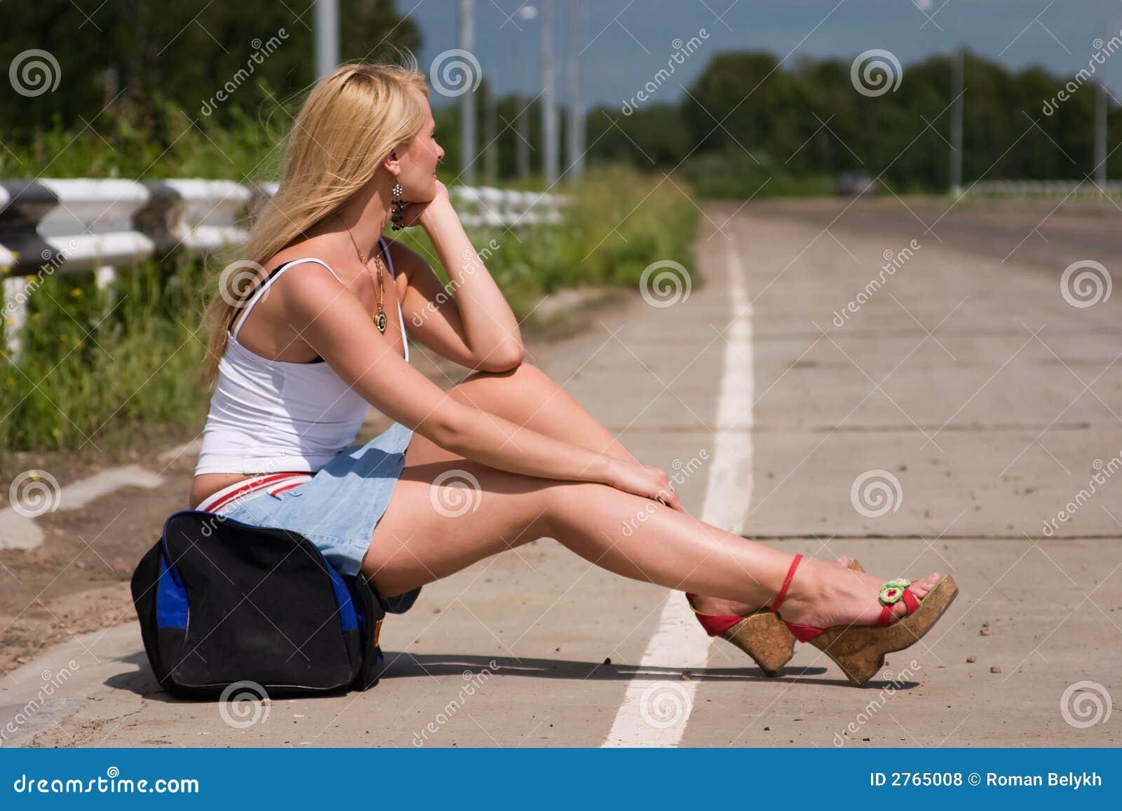 Снял девчонку на трассе 6 фотография