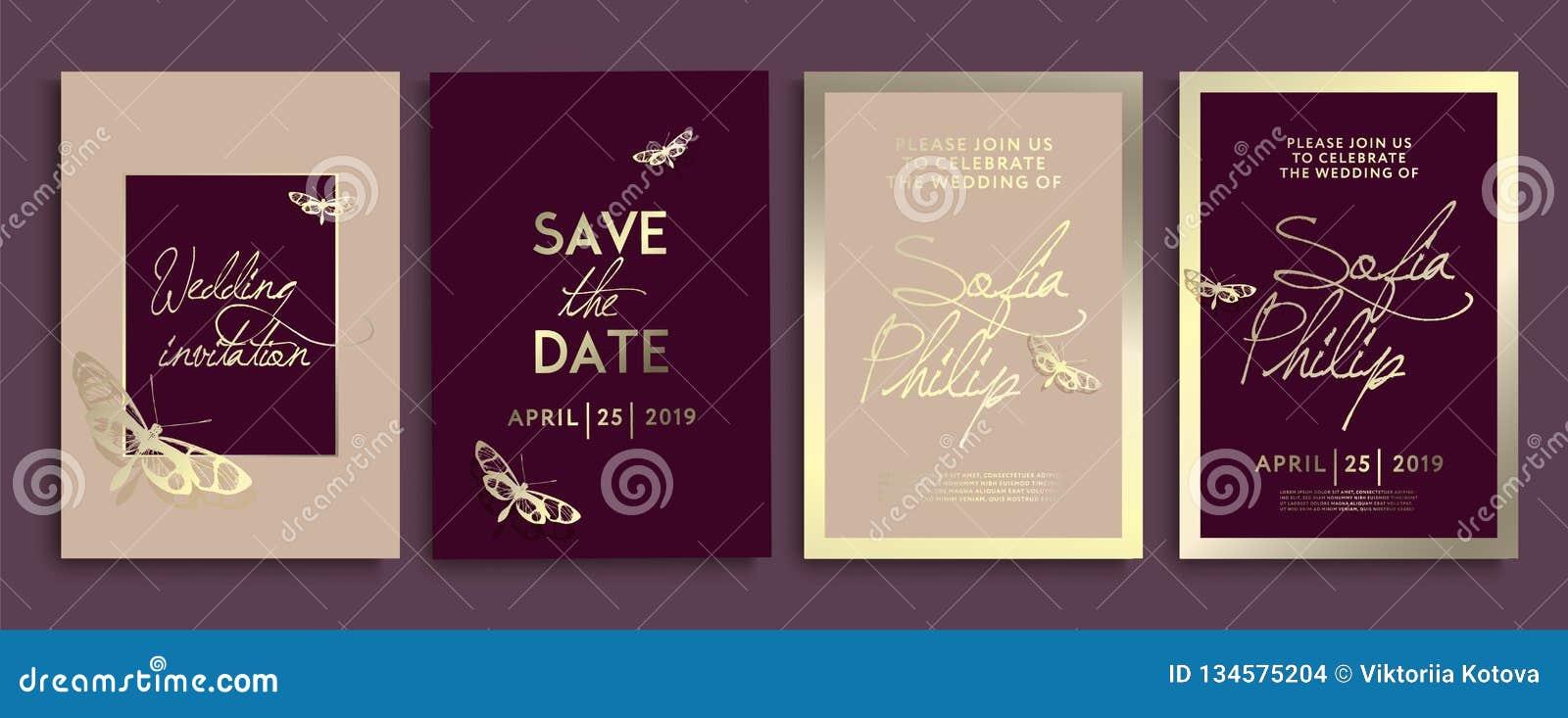 Приглашение свадьбы с цветками, ангелами и бабочками на текстуре золота роскошная карта свадьбы на предпосылках золота, художеств