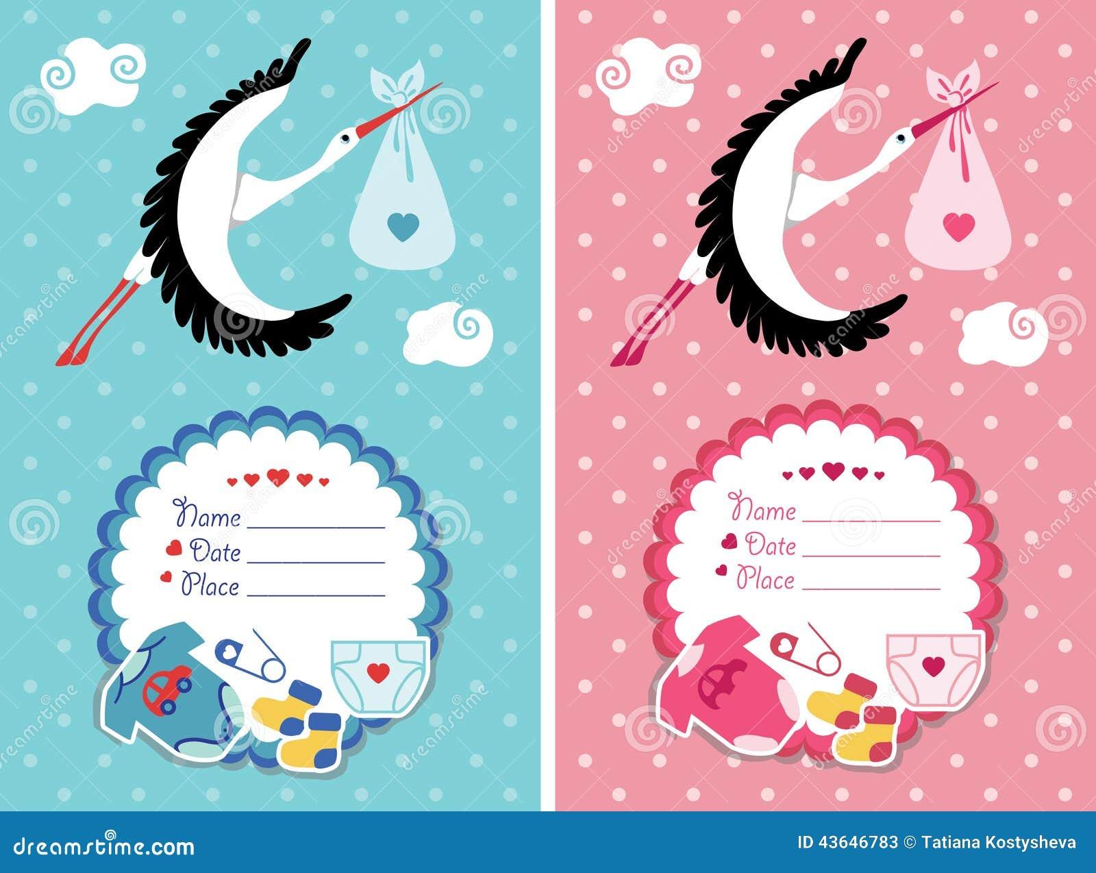 Приглашение детского душа с младенцем новорожденного