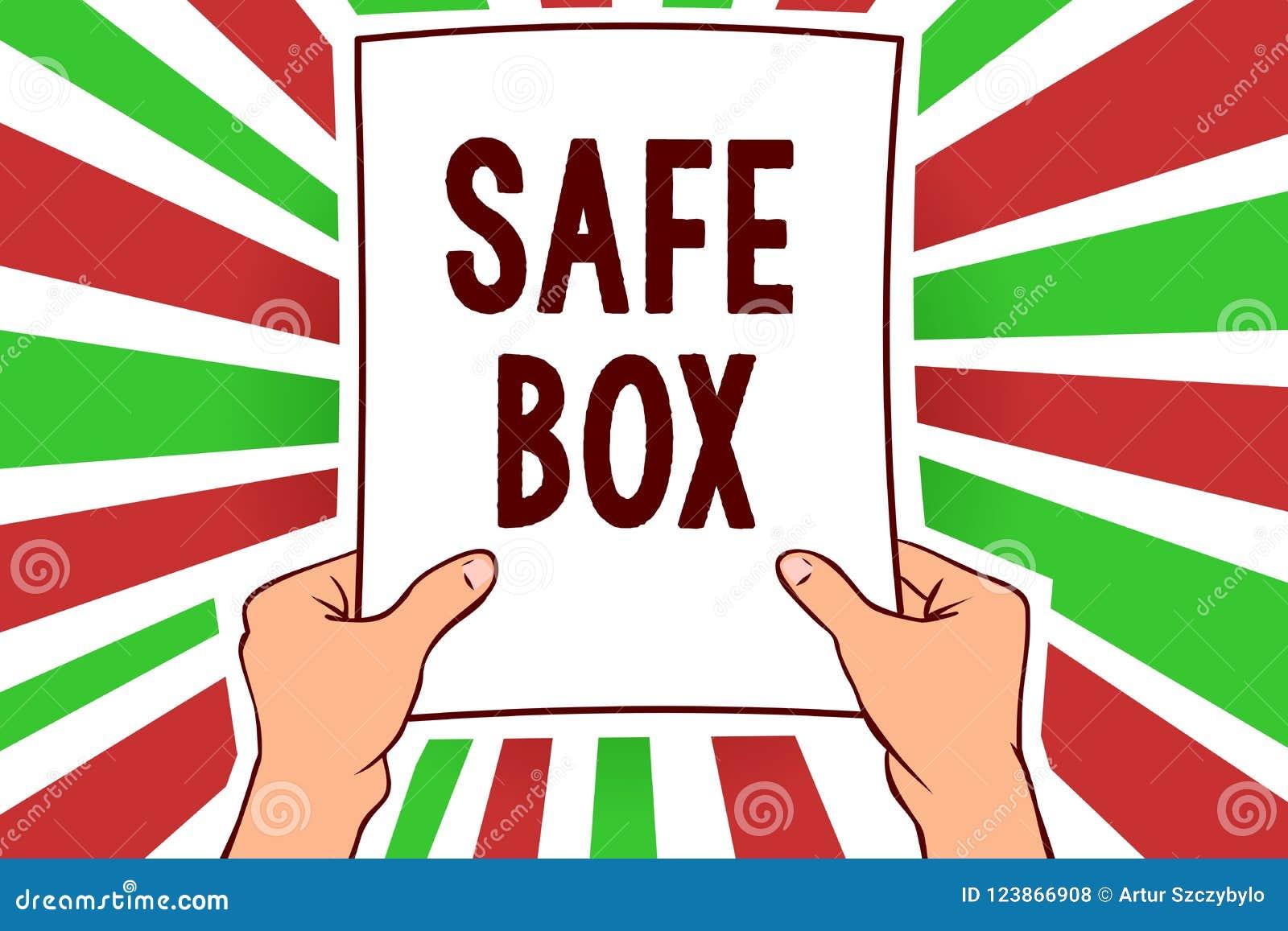 Примечание сочинительства показывая безопасную коробку Фото дела showcasing структура a малая где вы можете держать важная или це