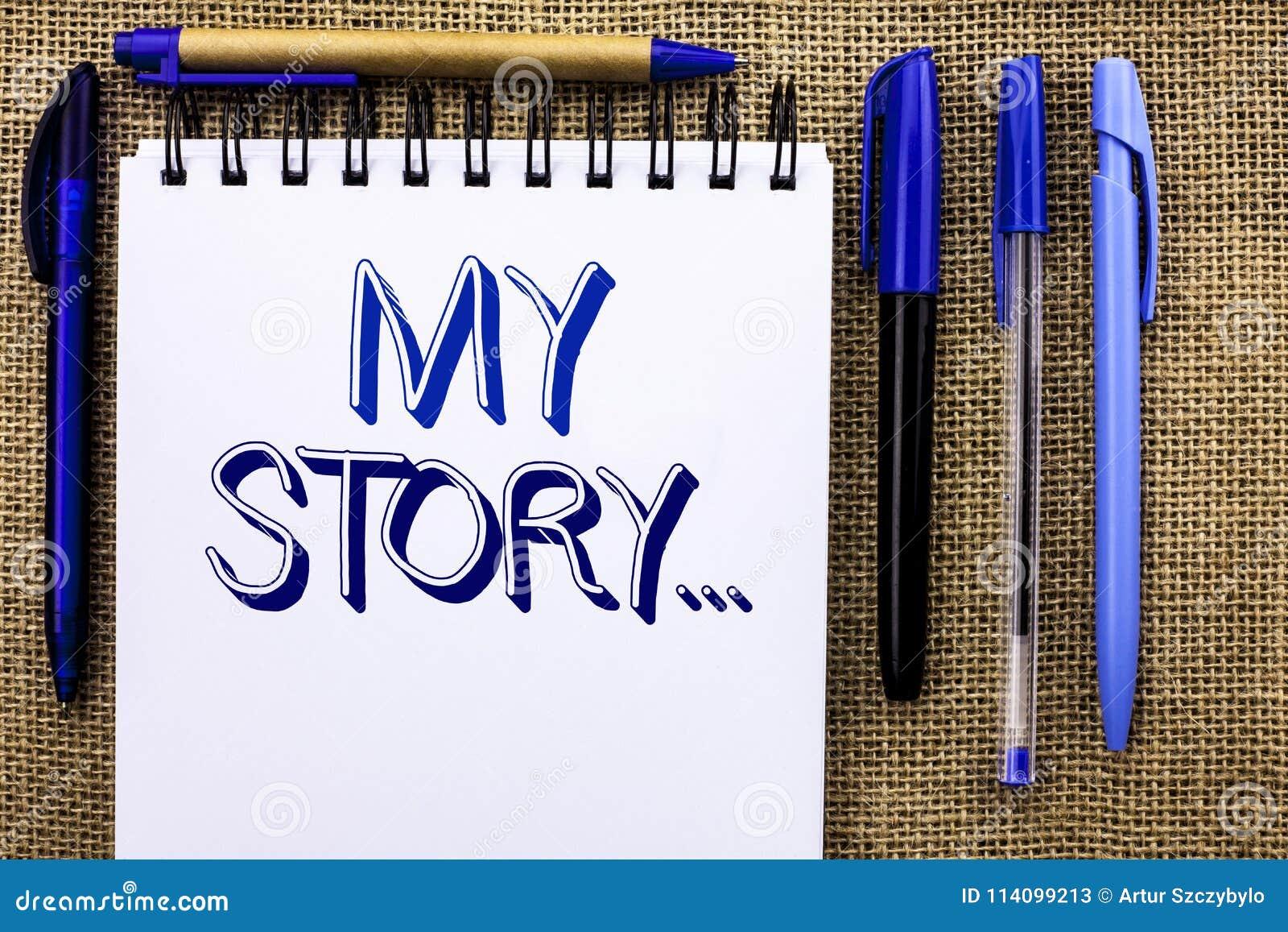 Примечание сочинительства показывая мой рассказ Портфолио профиля личной истории достижения жизнеописания фото дела showcasing на