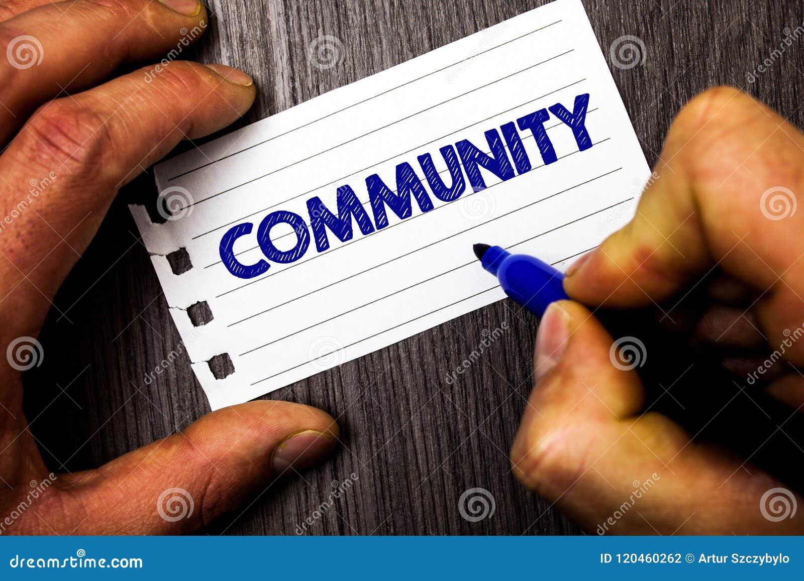 Примечание сочинительства показывая общину Hol человека группы единства союзничества присоединения положения ассоциации района фо