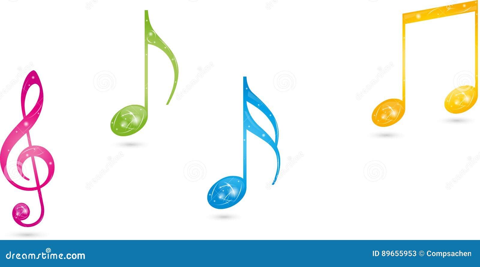 Примечания музыки, ключ, логотип музыки