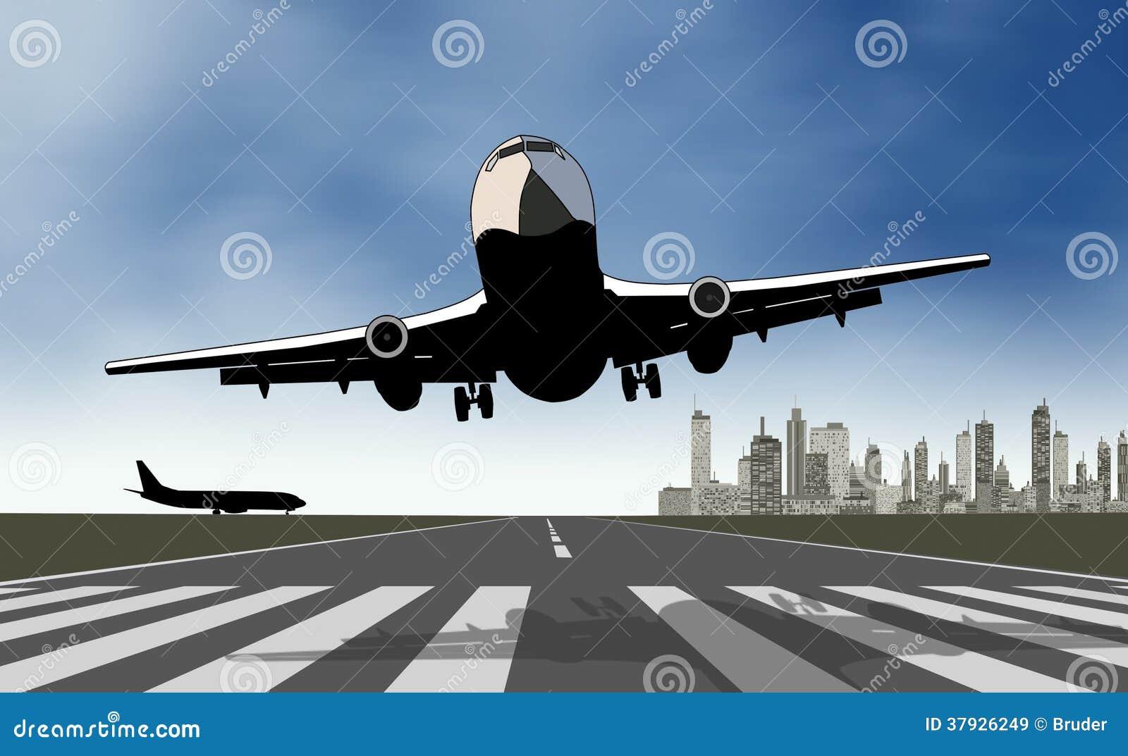 Примите самолет