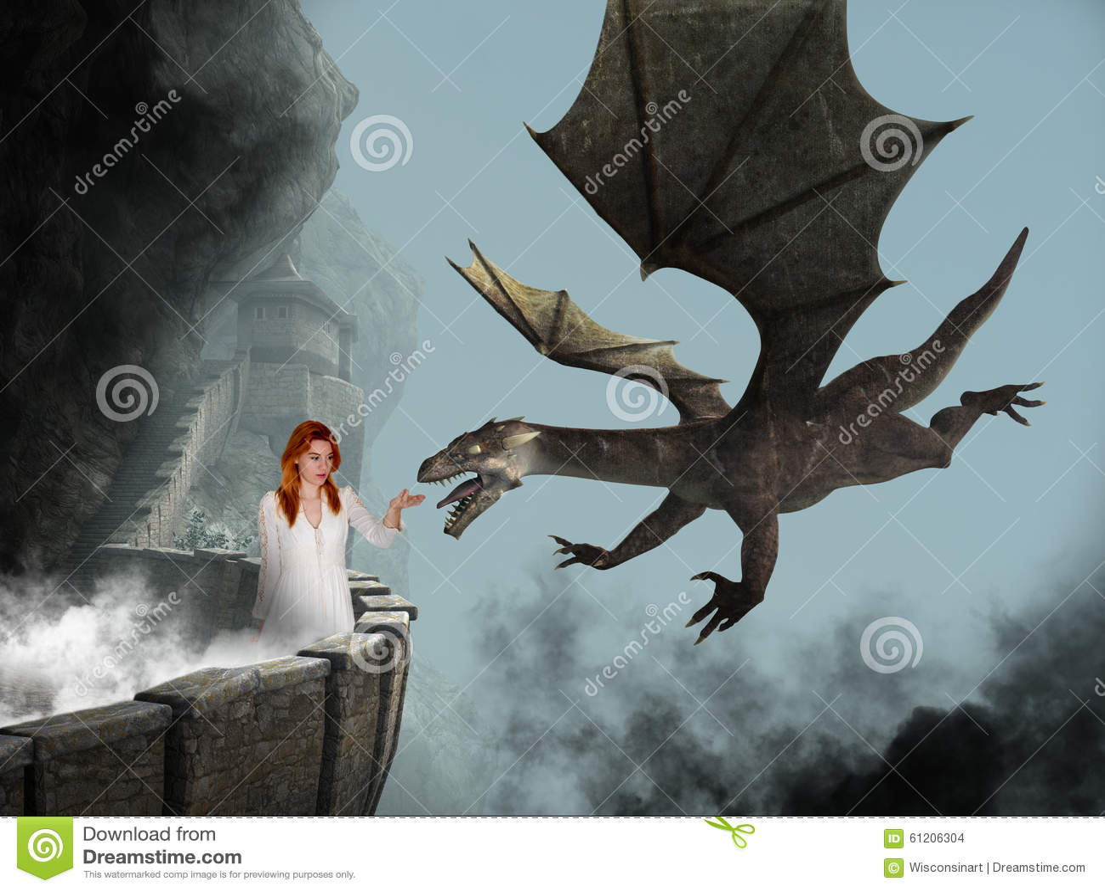 Принцесса фантазии, замок, злий дракон