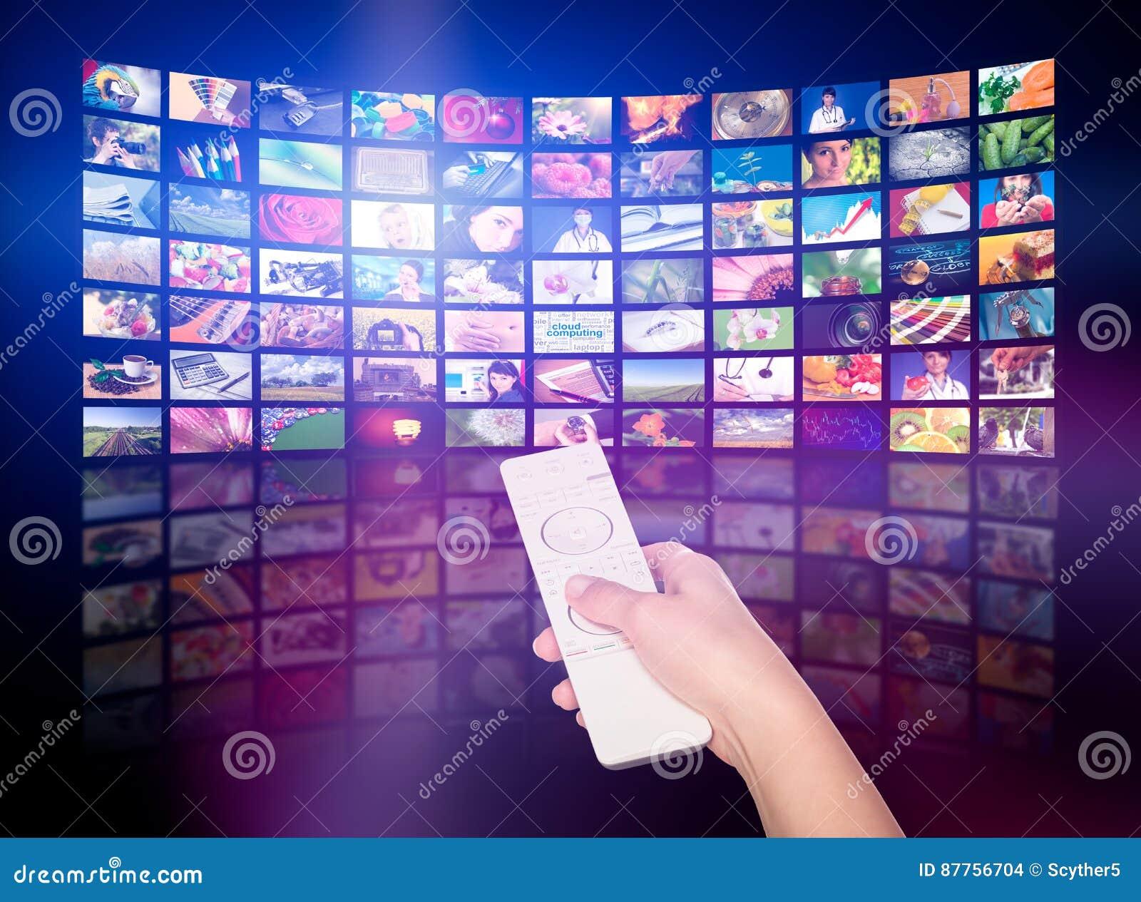 Принципиальная схема продукции телевидения Панели кино ТВ