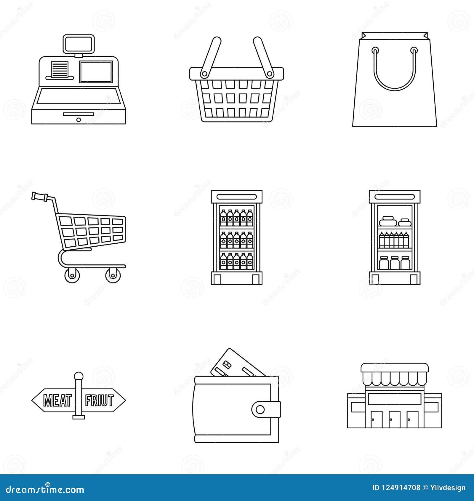 Приобретение в значках магазина установило, конспектирует стиль