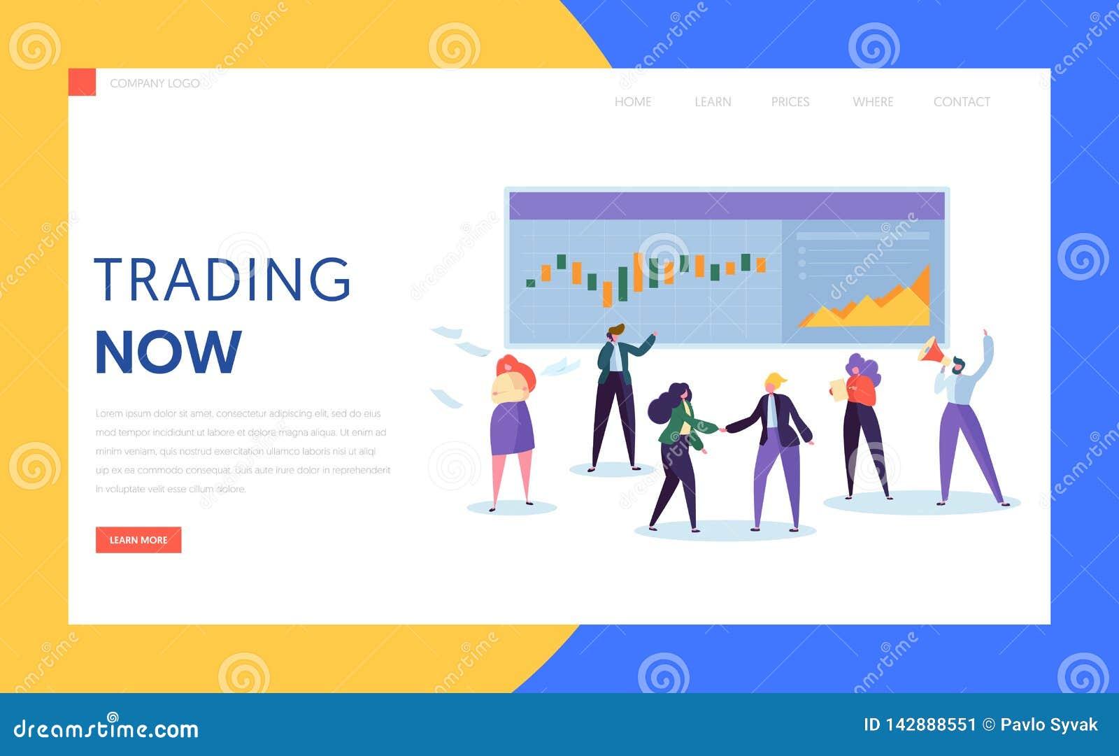 Приобретение торговца и запас продажи, скрепление или товар или производное и страница посадки инвесторской компании Профессионал