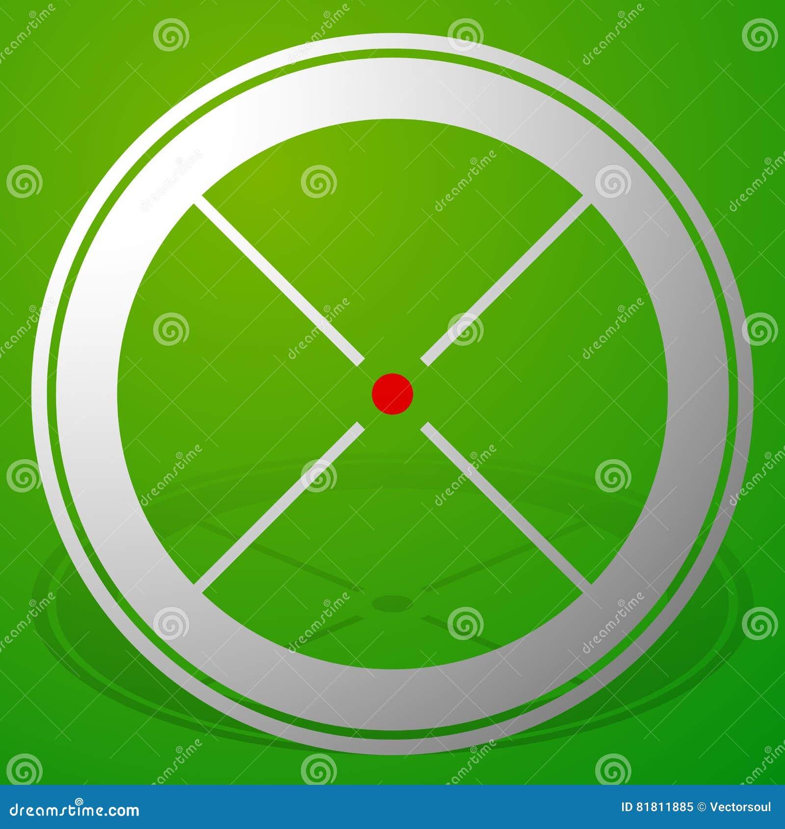 Прицельтесь метка, перекрестие, значок перекрещения с красной точкой
