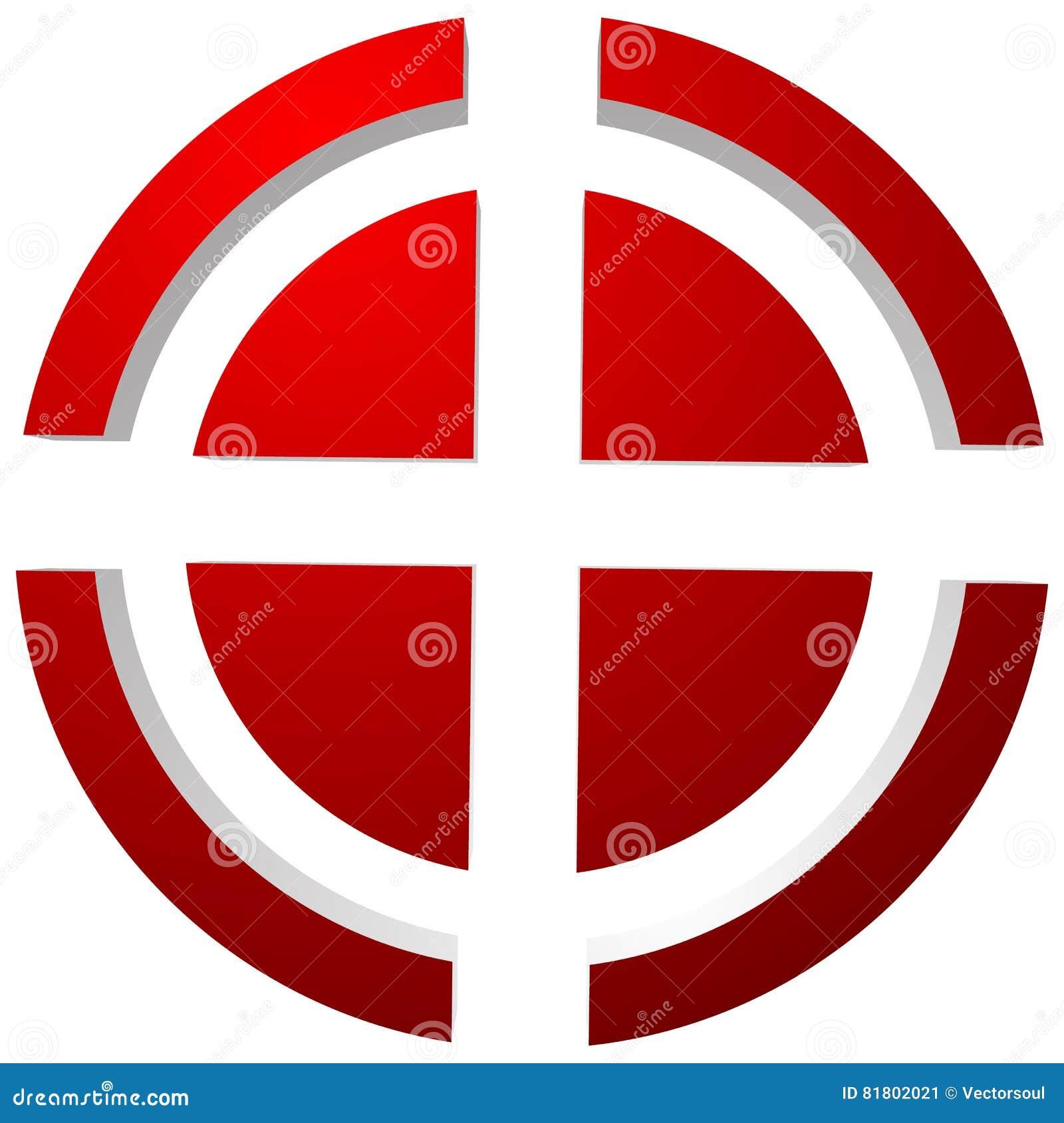 Прицельтесь метка, перекрещение, значок перекрестия для фокуса, точности, цели