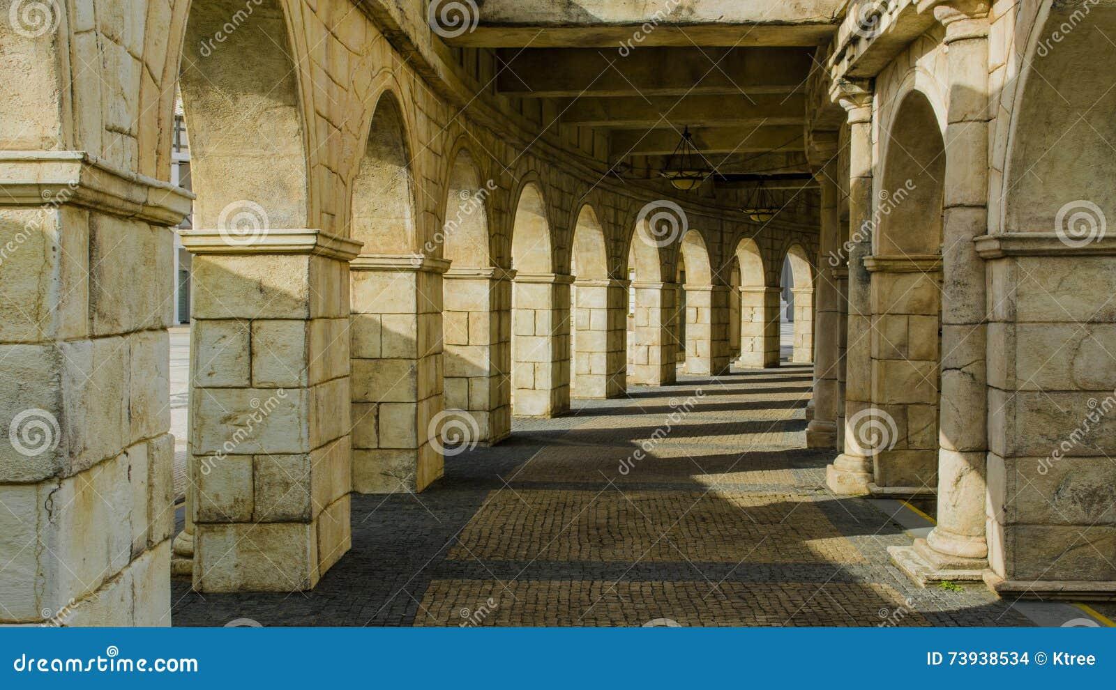 причал Макао рыболова amphitheatre римский