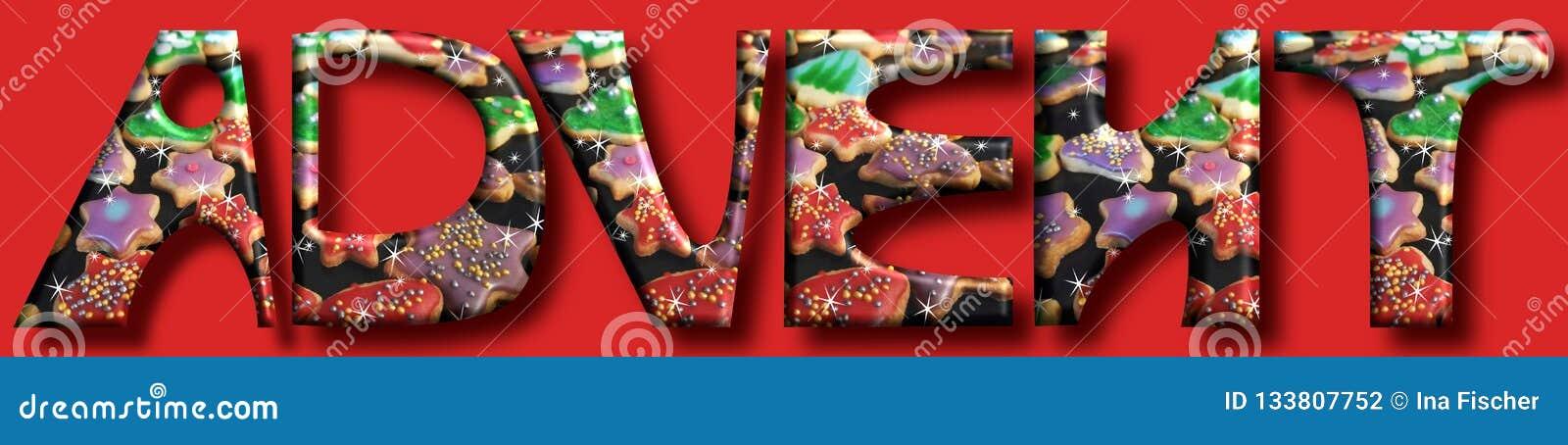Пришествие приходит большие письма и печенья на backgr рождества