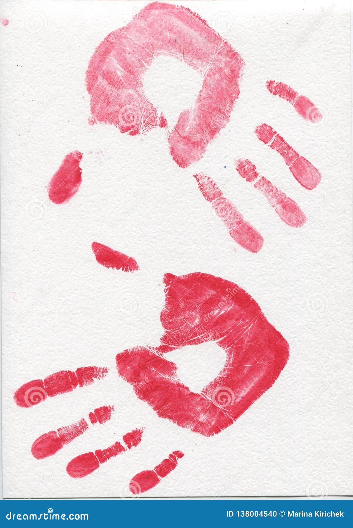 Приятельство, на белой предпосылке, печати руки, урок школы