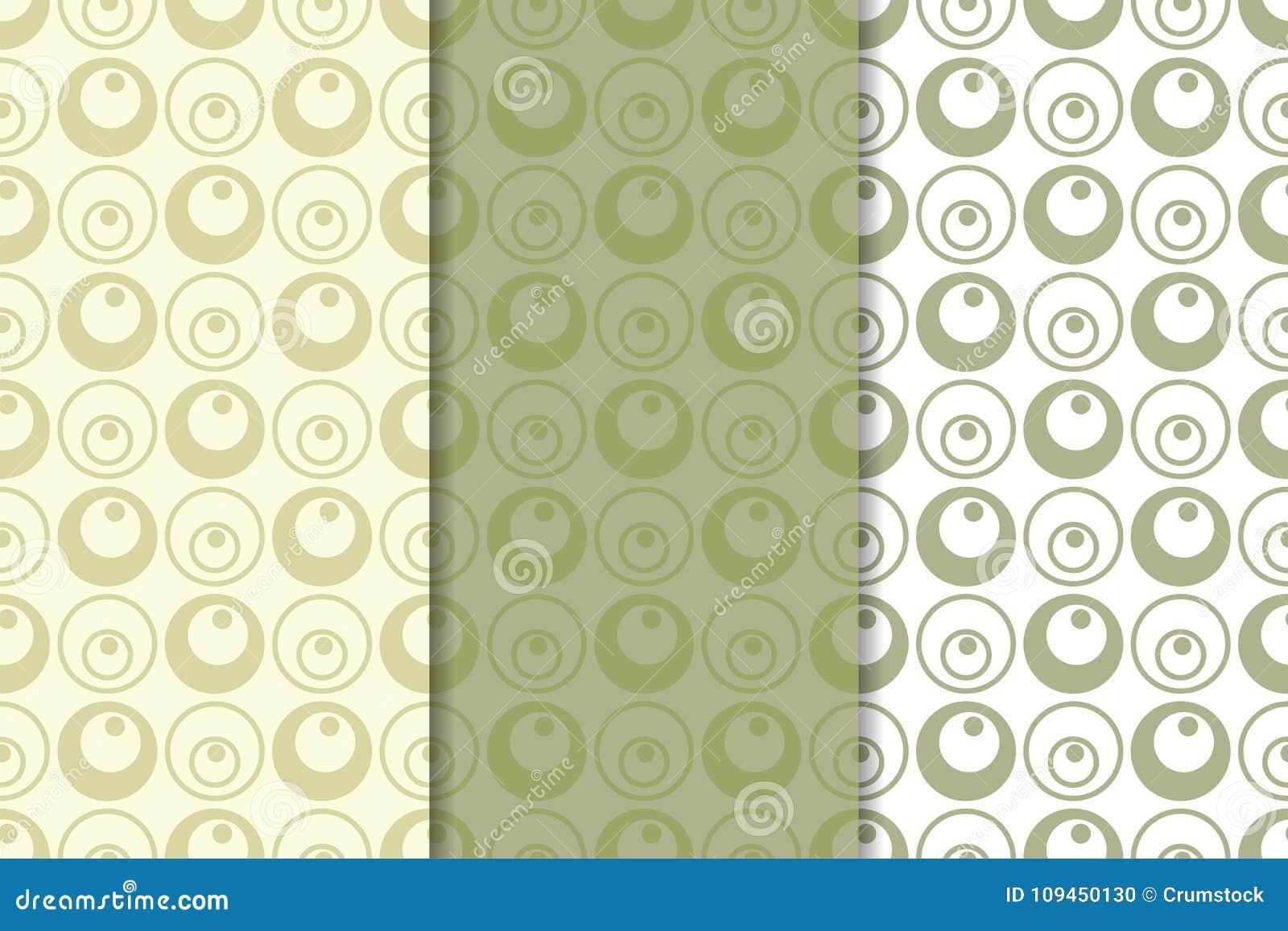 Прованские орнаменты зеленого цвета и белых геометрические делает по образцу безшовный комплект