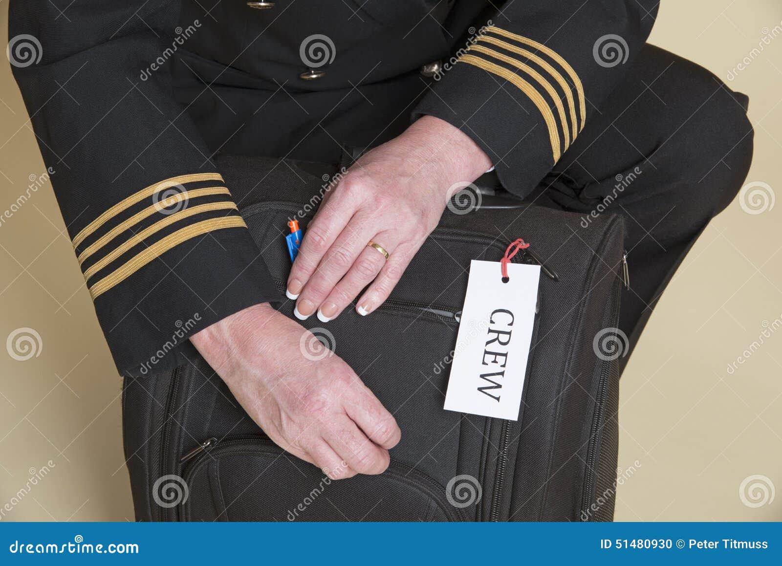 bc3b65a1 Проверка сумки полета экипажа самолета Стоковое Фото - изображение ...