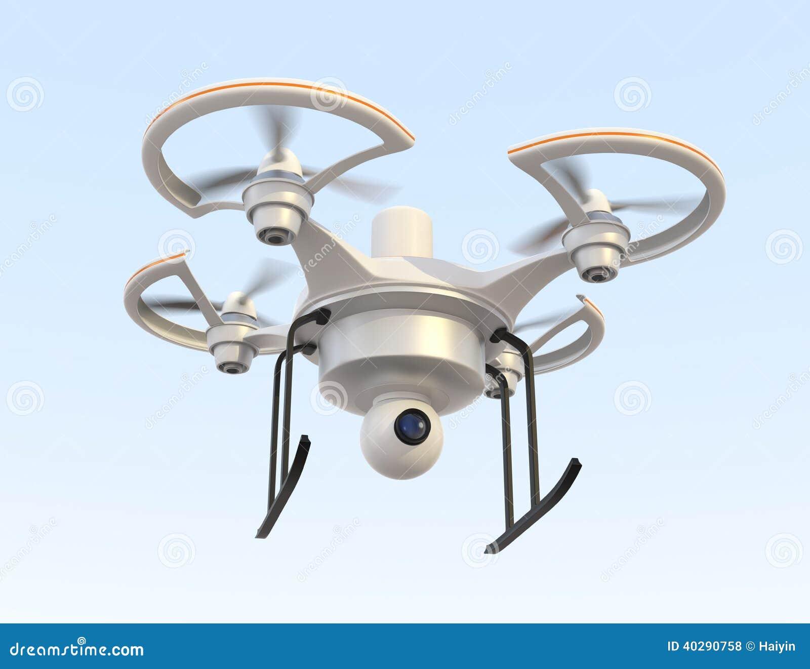 Проветрите трутня с летанием камеры в небе