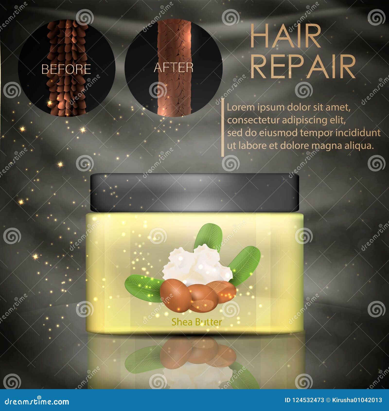 Проводник волос с маслом дерева ши