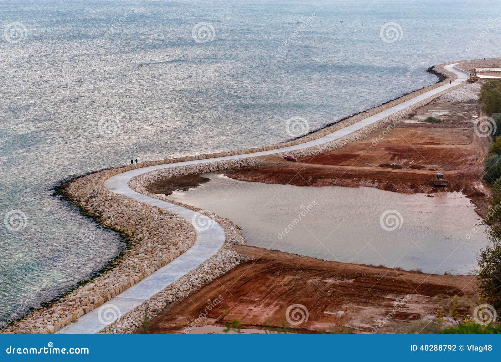 Прогулка отдыхая на Чёрном море в Болгарии