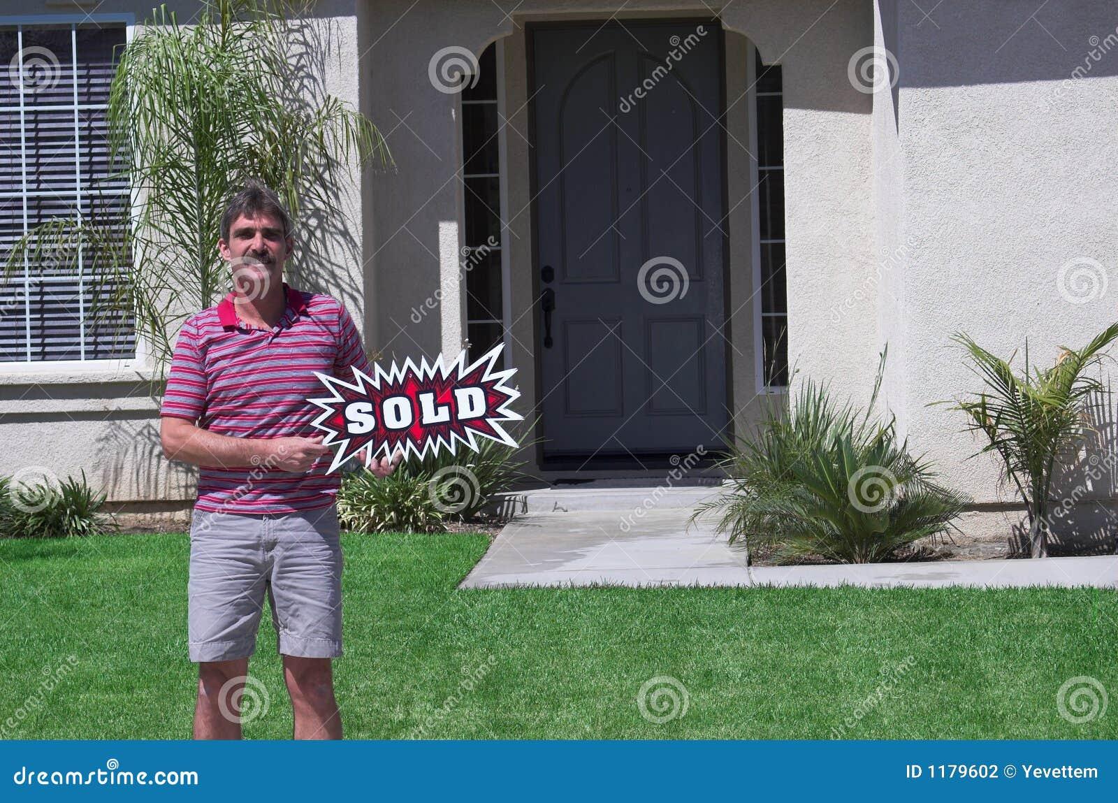 проданный знак владельца дома новый