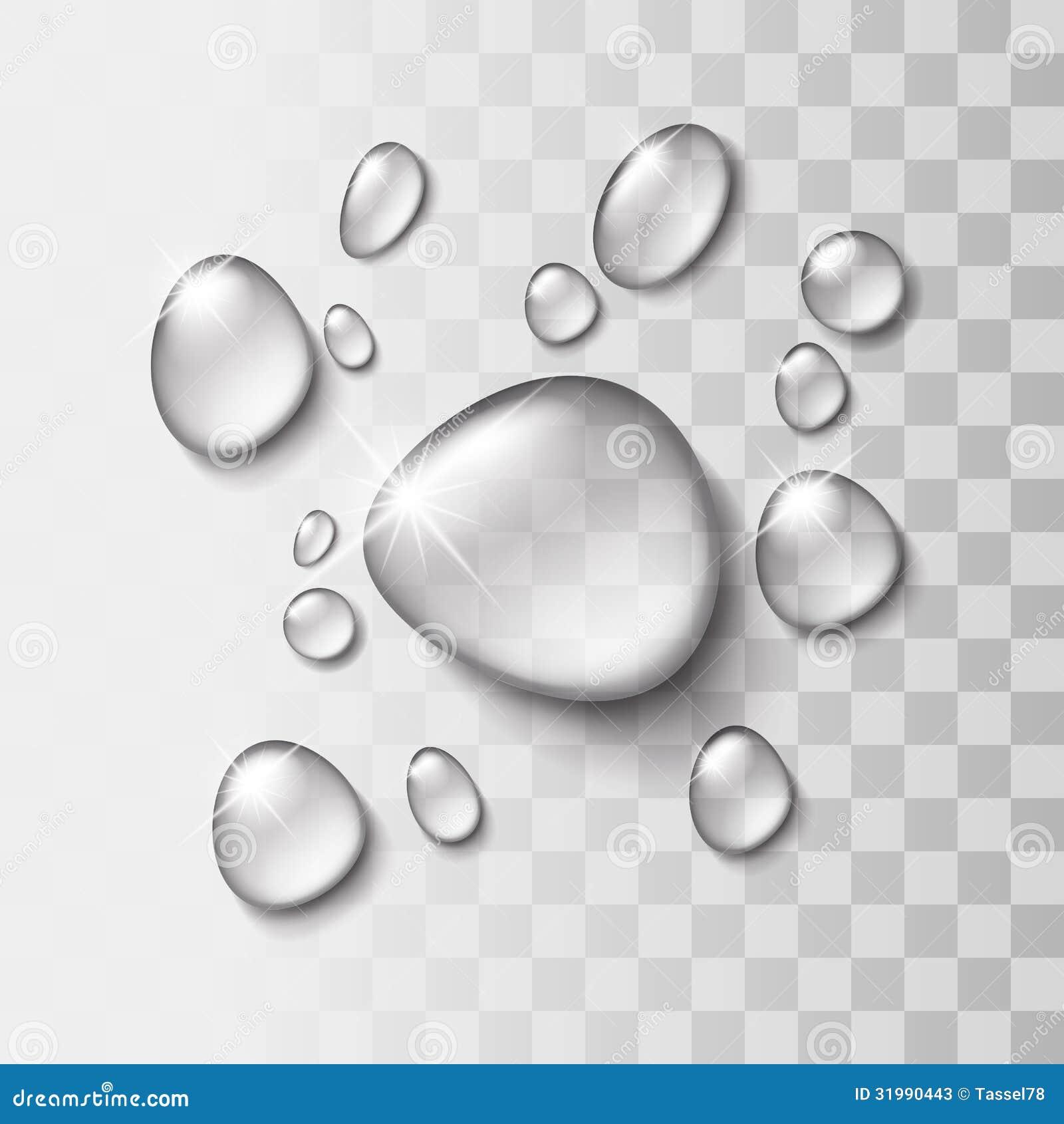 Прозрачное падение воды