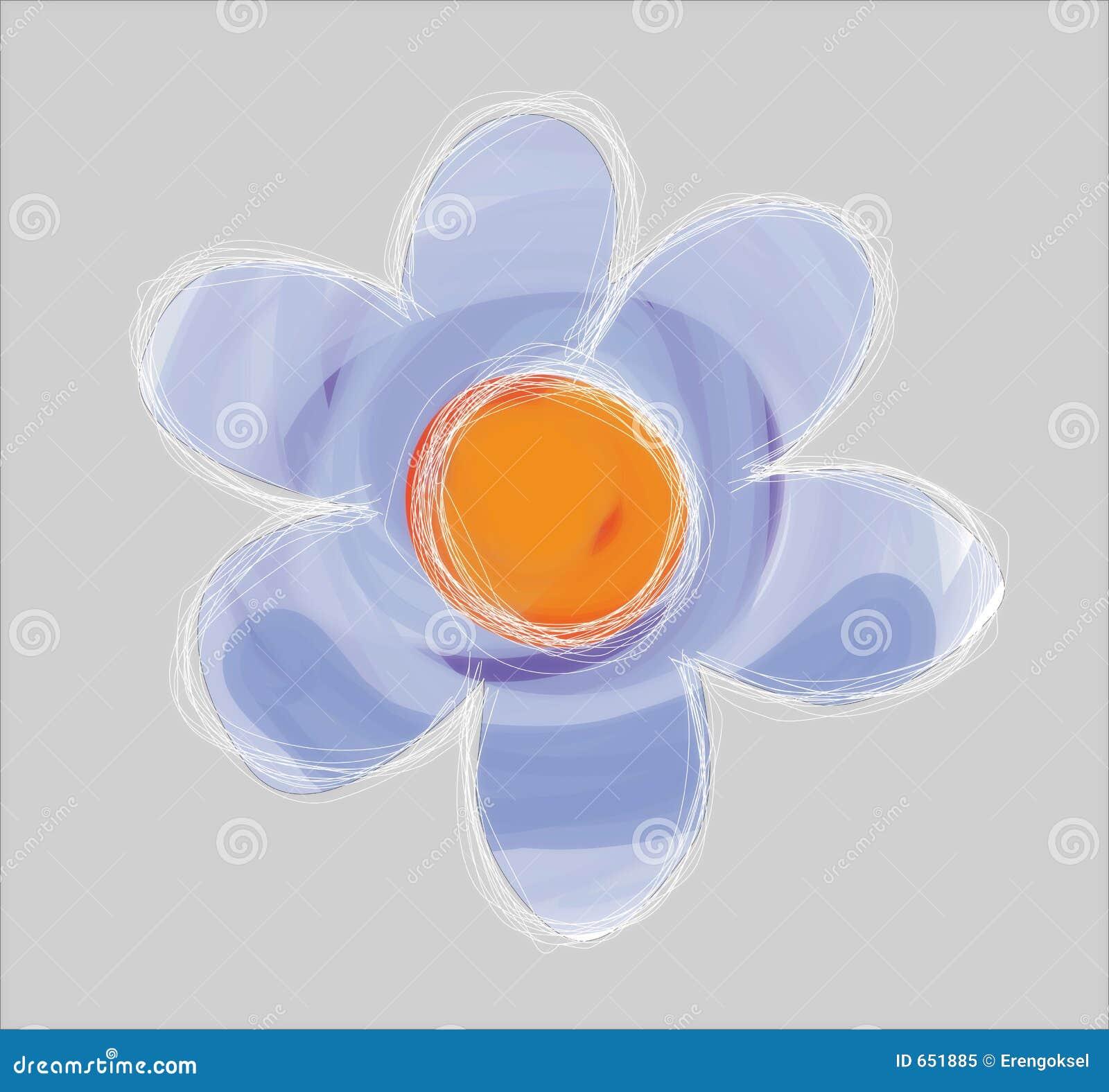 проиллюстрированный цветок