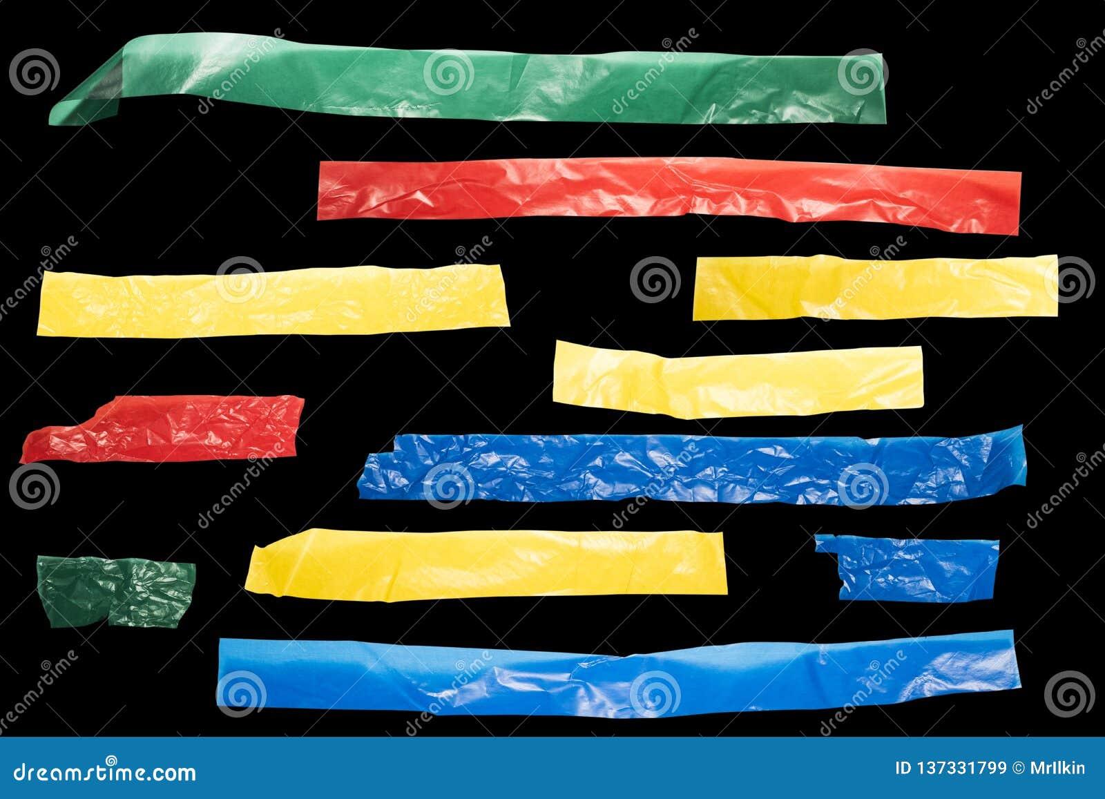 Прокладки покрашенной ленты на черной предпосылке для более низкой трети