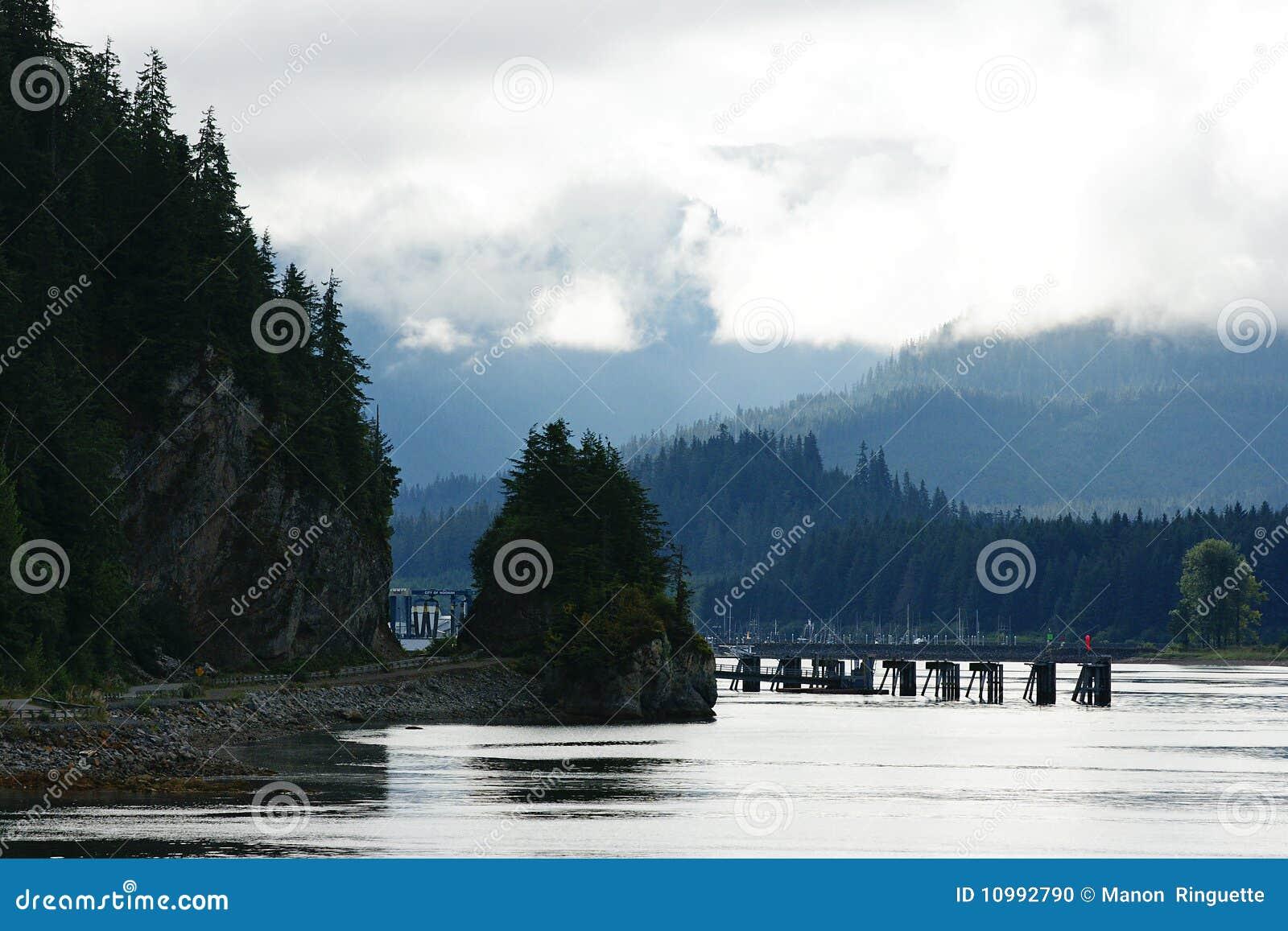 пролив пункта Аляски ледистый